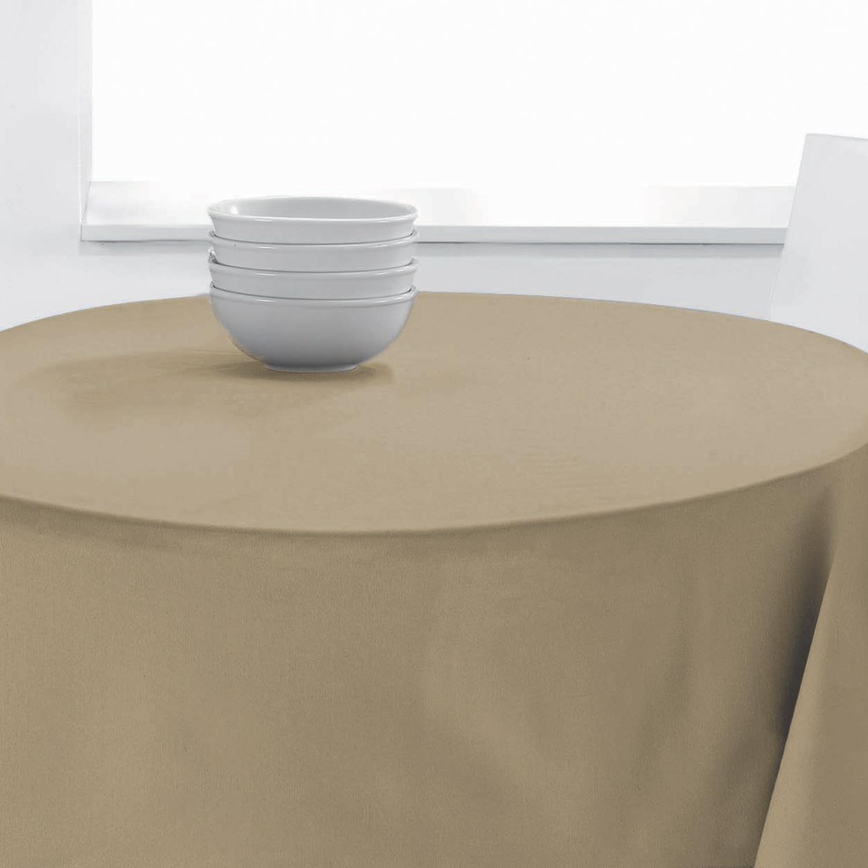 Nappe Ronde Uni en polyester ficelle diamètre 140