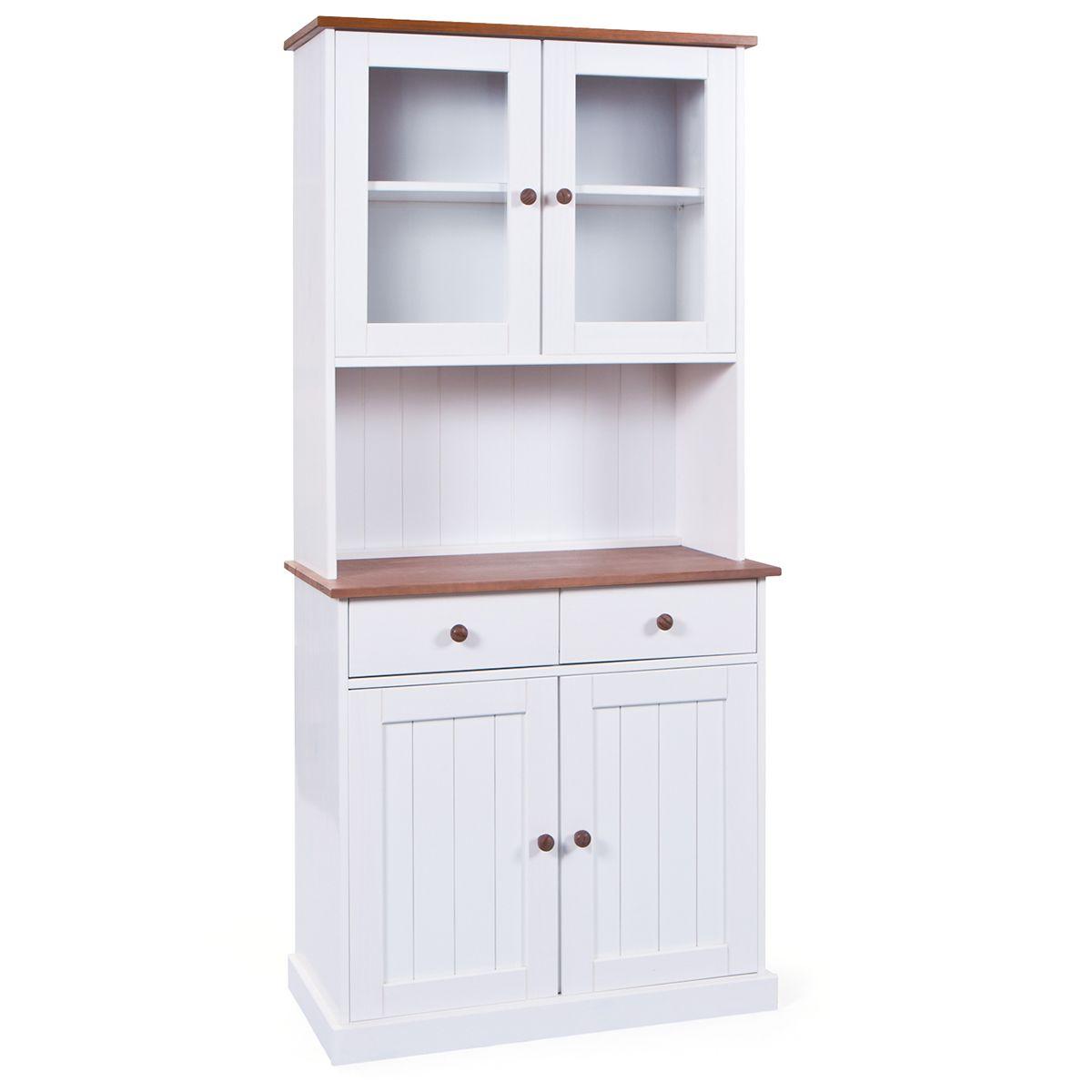 Buffet vaisselier 4 portes 2 tiroirs