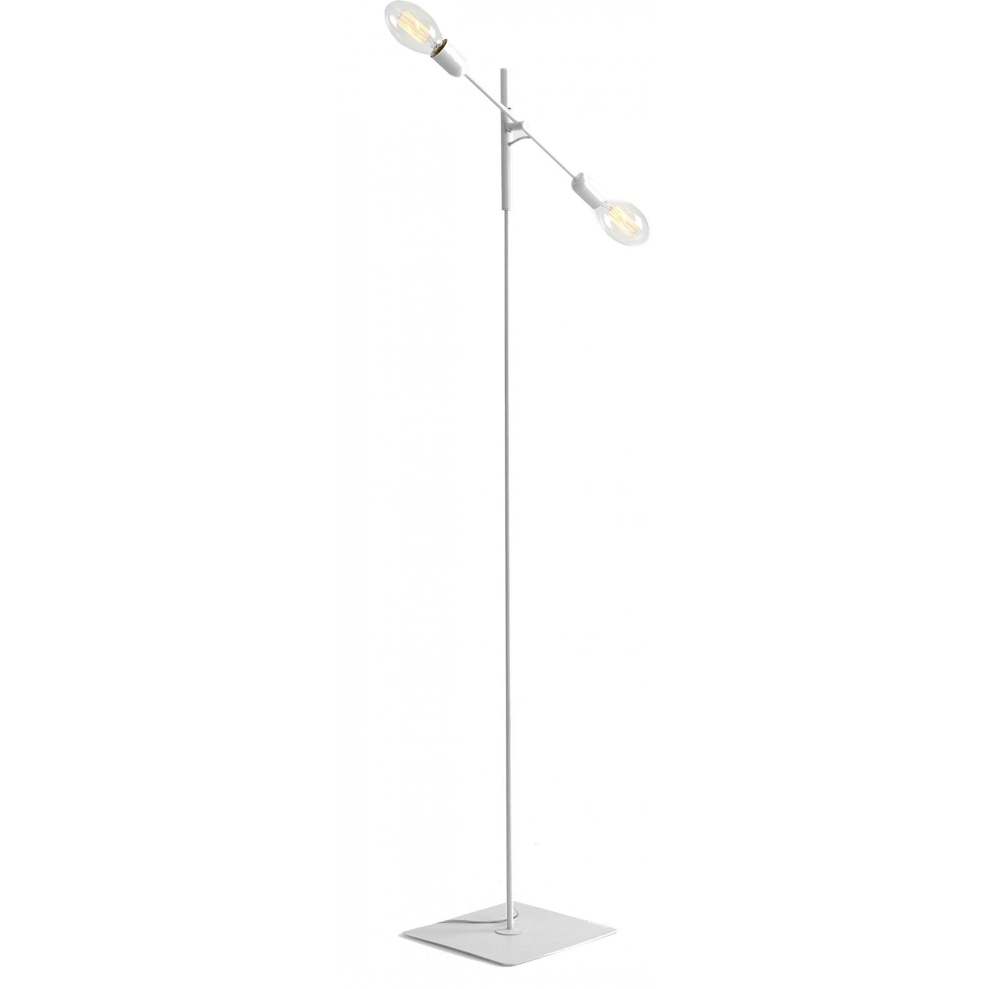 Lampadaire blanc 2 lumières