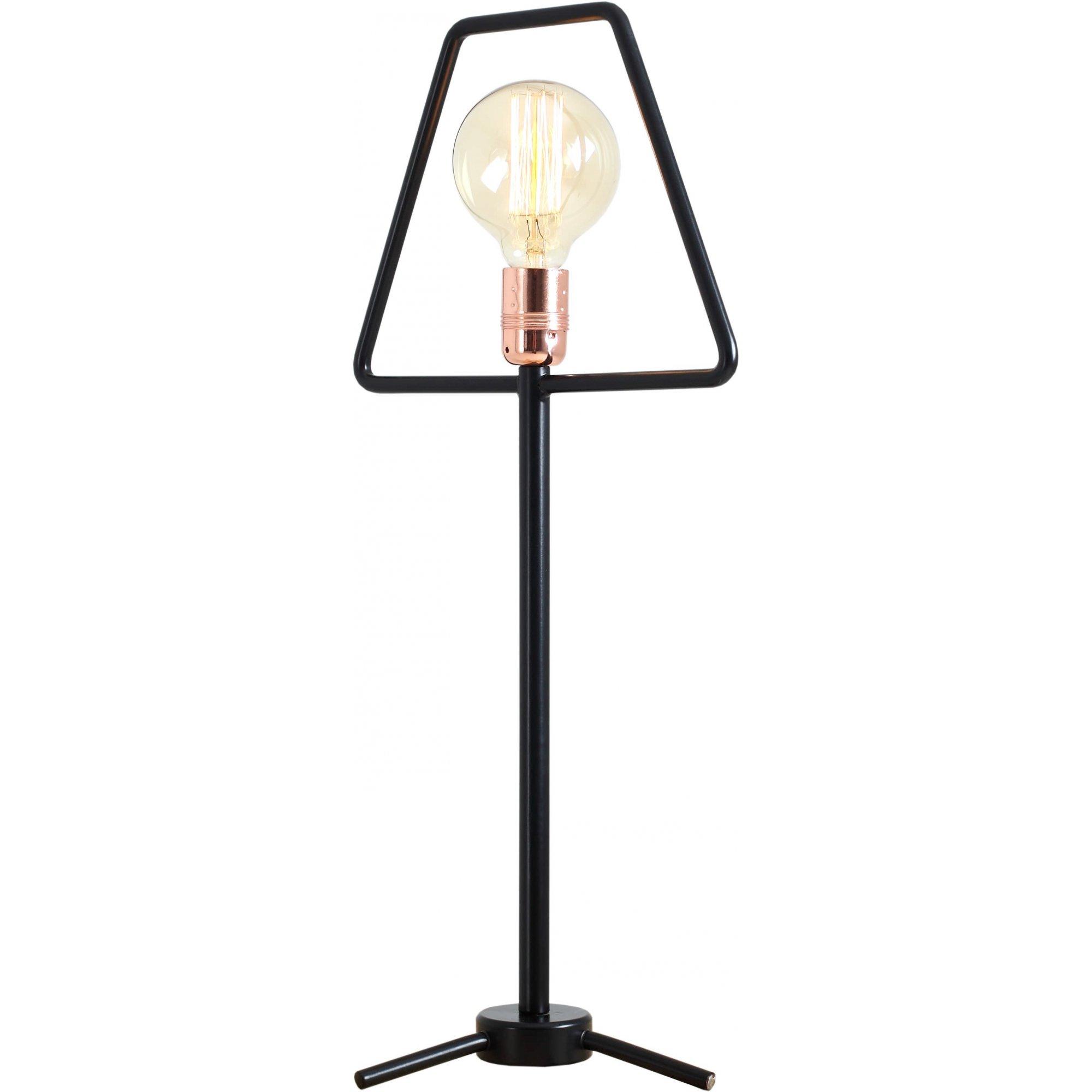 Lampe de table noire