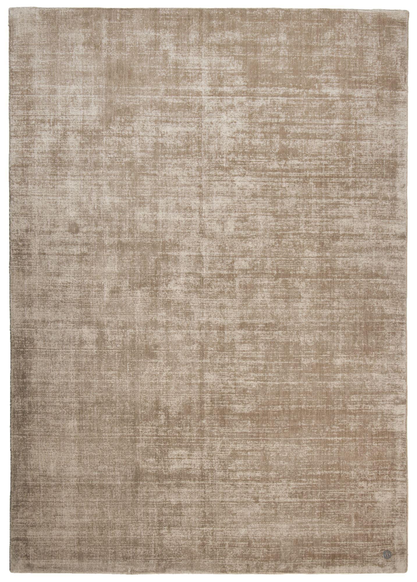 SHINE - Tapis élégant avec un doux brillant en viscose beige 65x135