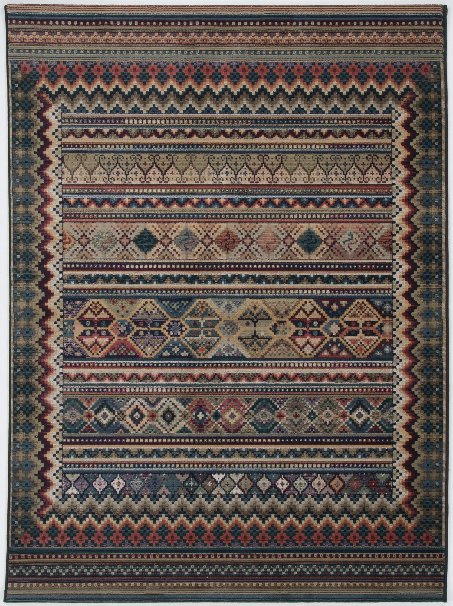 Tapis oriental très durable multicolore 68x135
