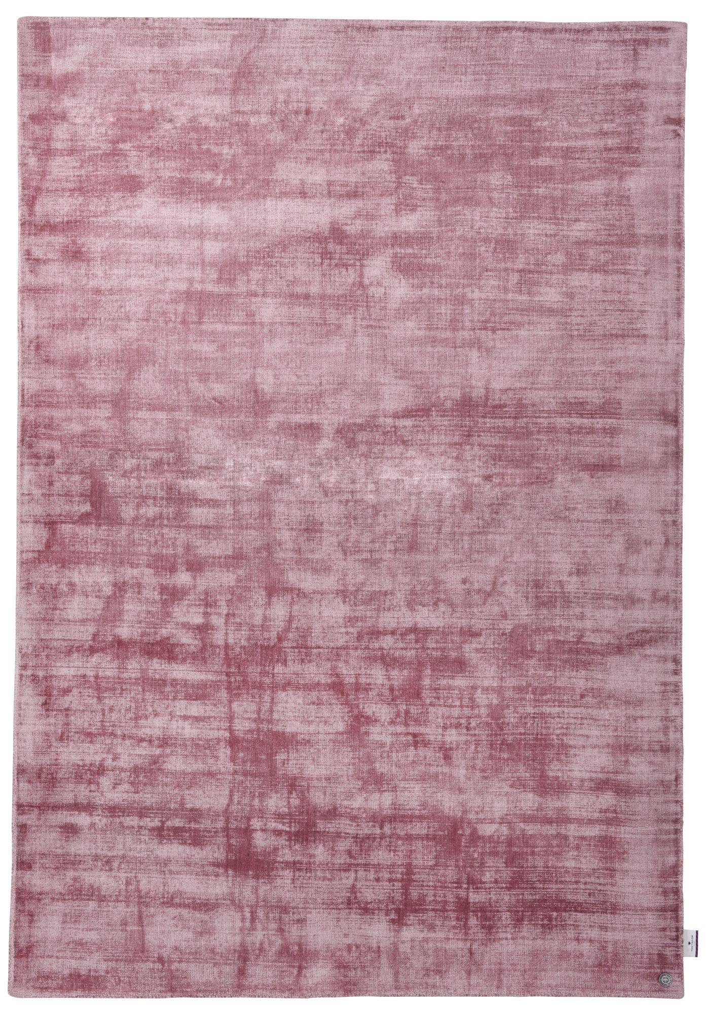 SHINE - Tapis élégant avec un doux brillant en viscose rose 65x135