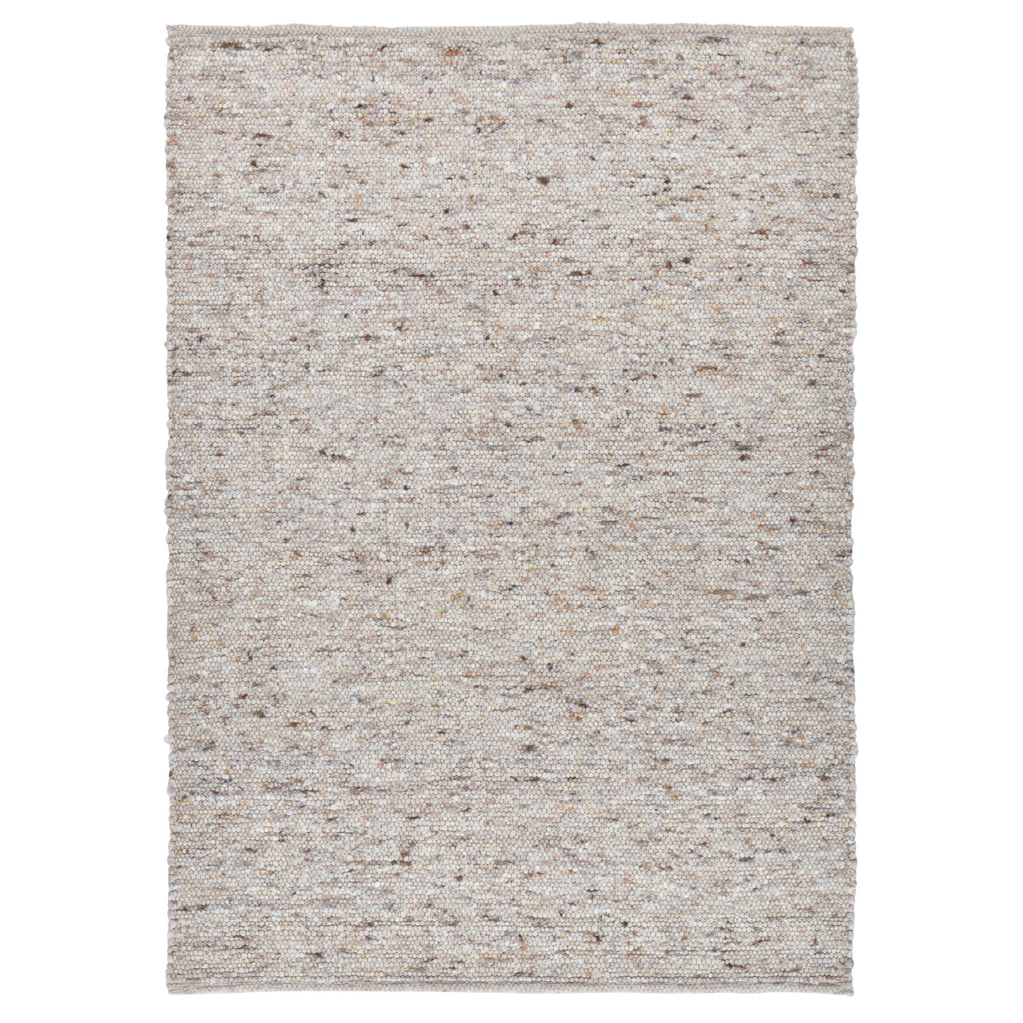 Tapis tissé à la main en laine naturelle sable 160x230