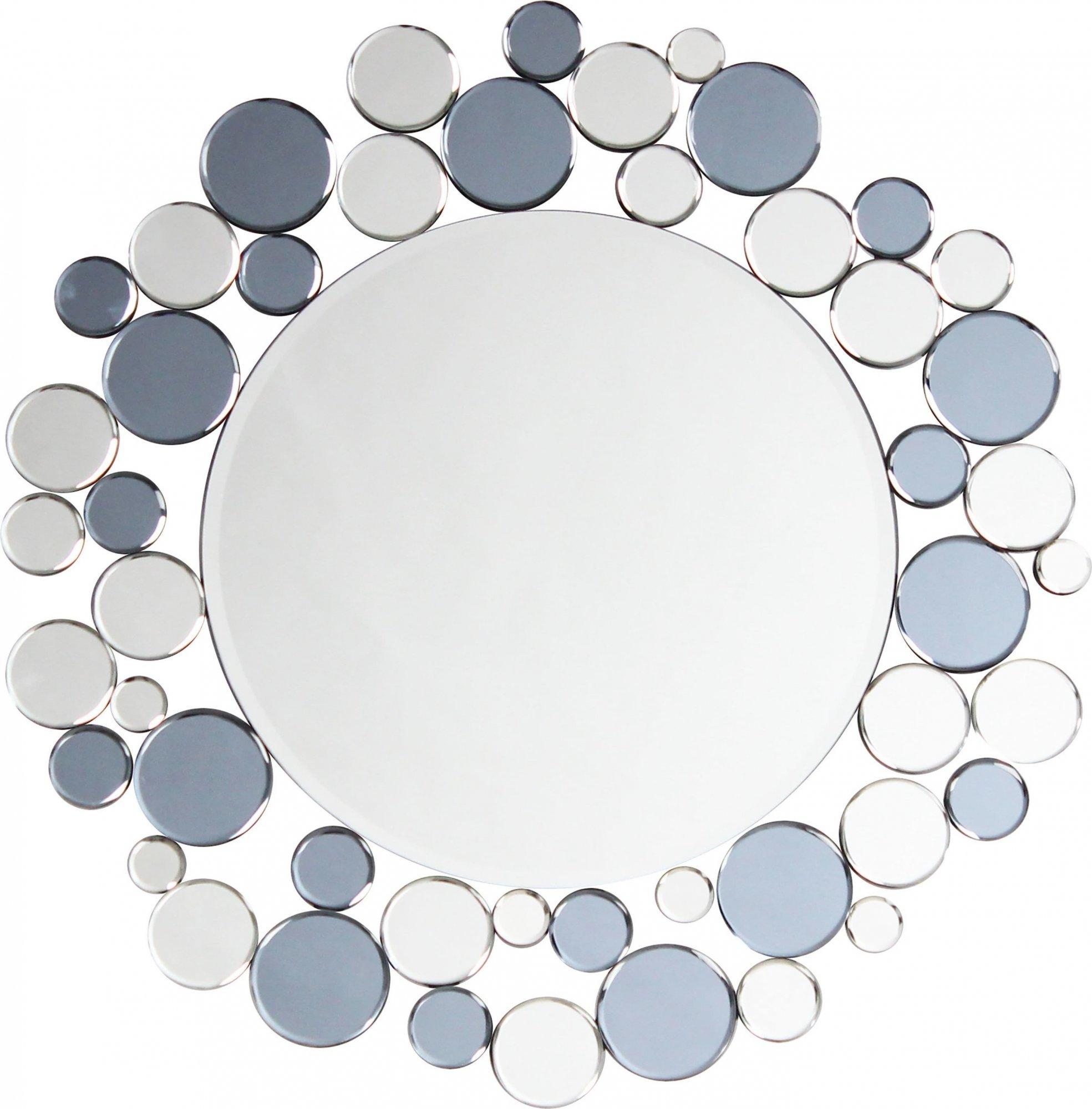 Miroir mural argent et gris d80