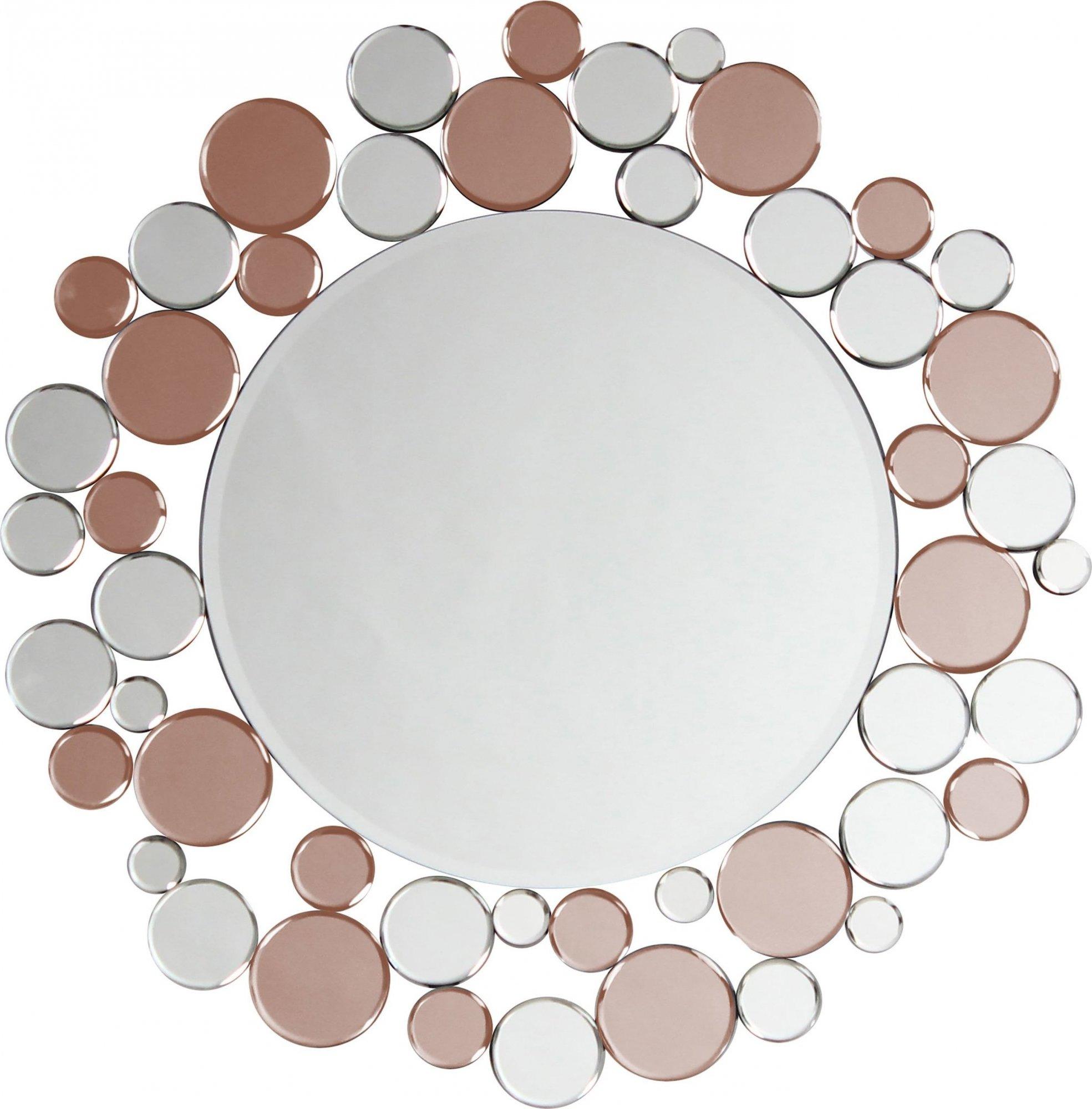 Miroir mural argent et rose d80