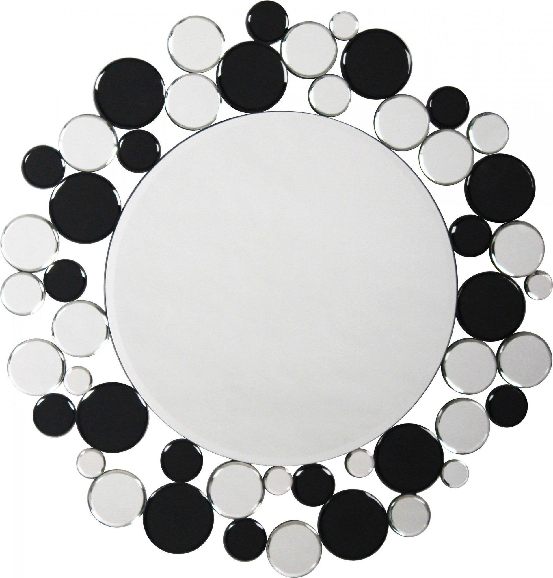 Miroir mural argent et noir d80