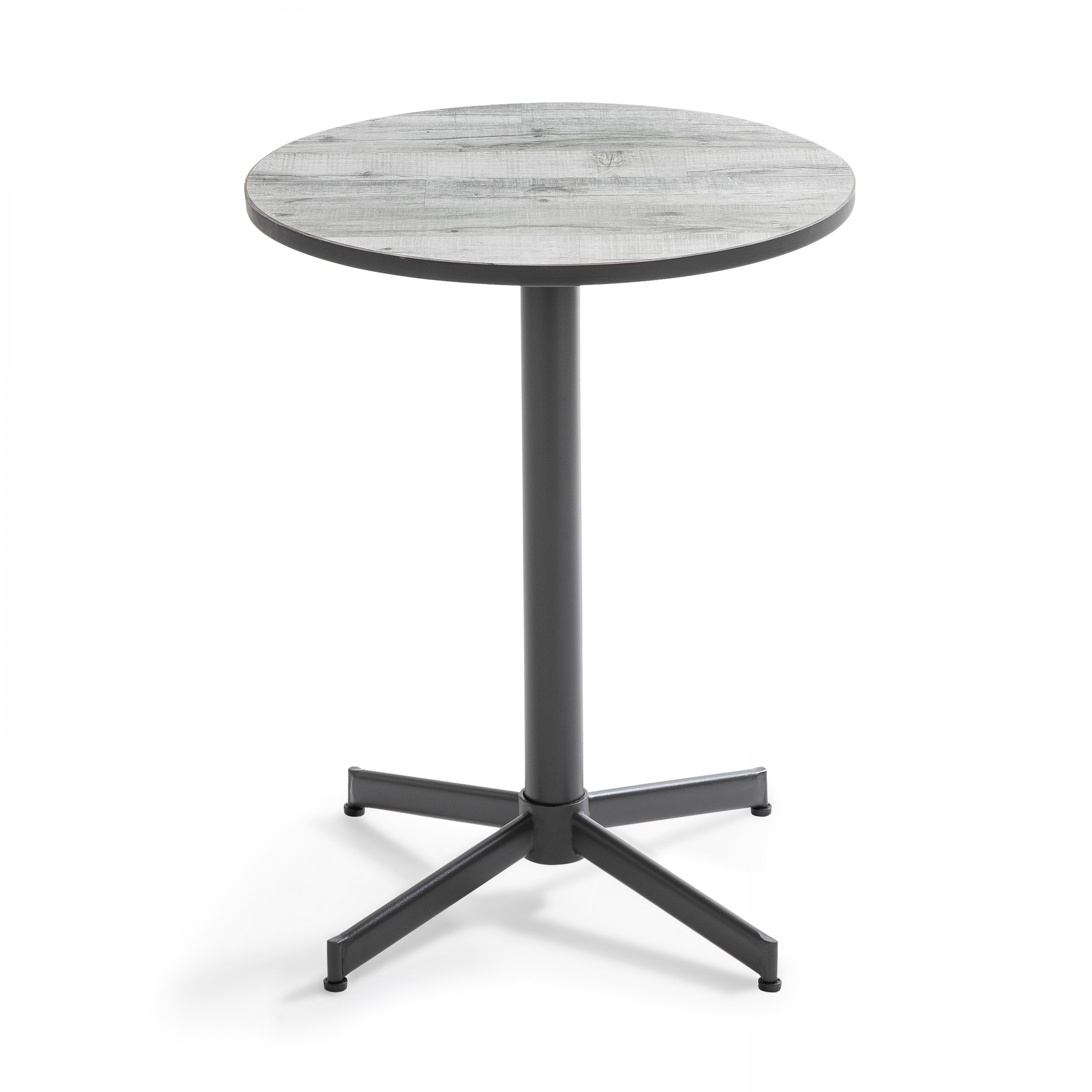 Table de jardin bistrot ronde gris