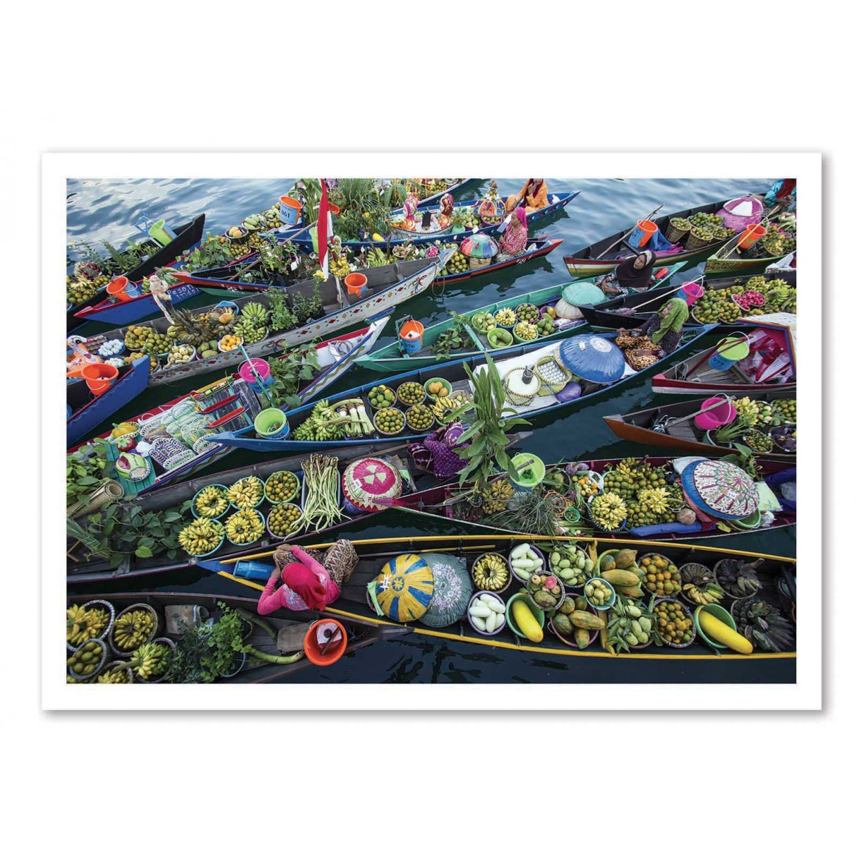 MARKET BOATS - Affiche d'art 50 x 70 cm