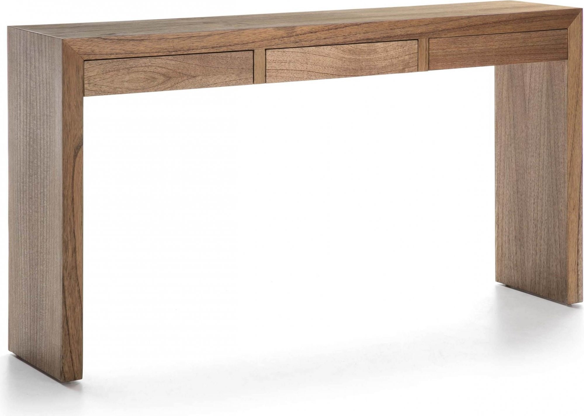 Console en bois 3 tiroirs couleur bois clair l140cm
