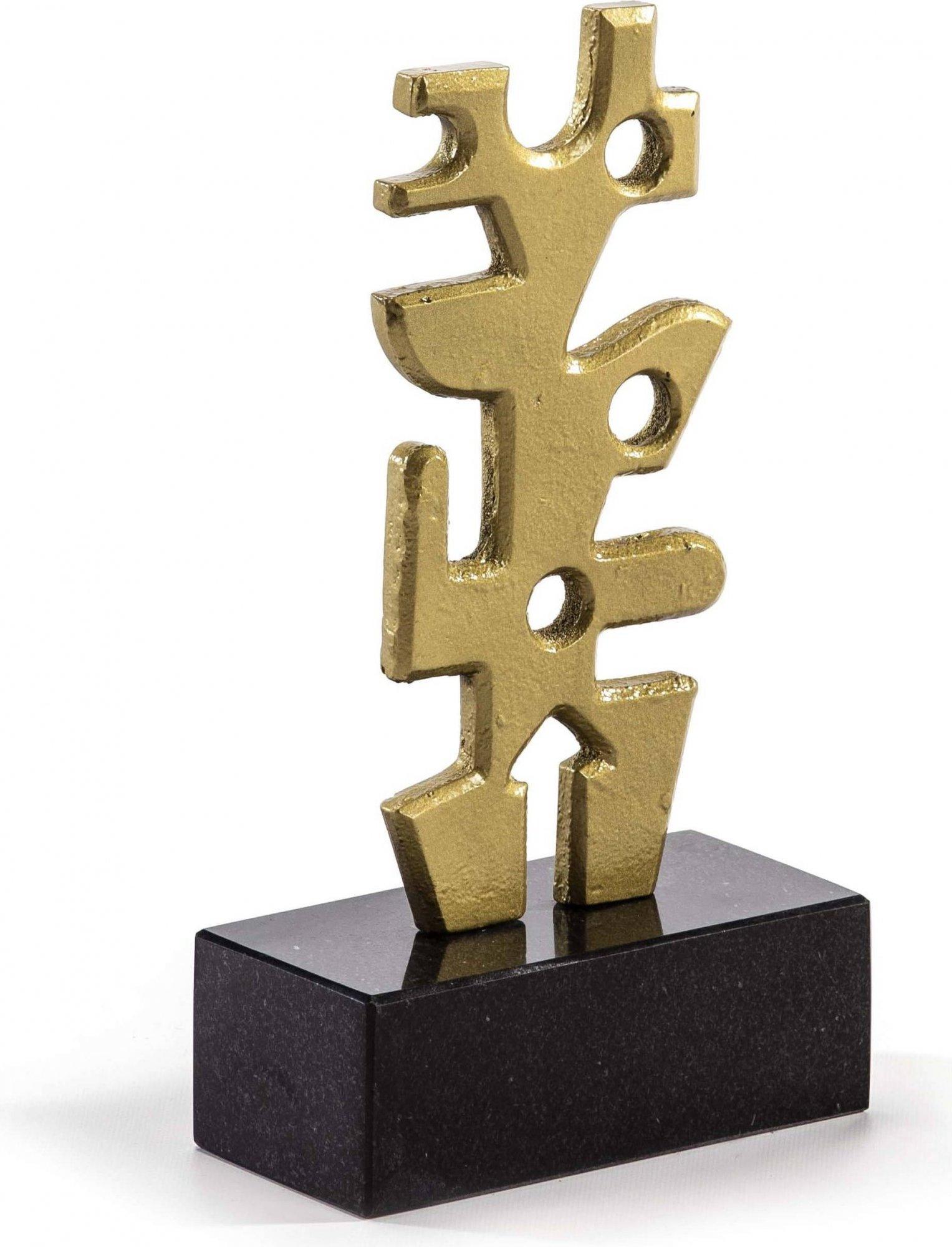 Sculpture noir et or