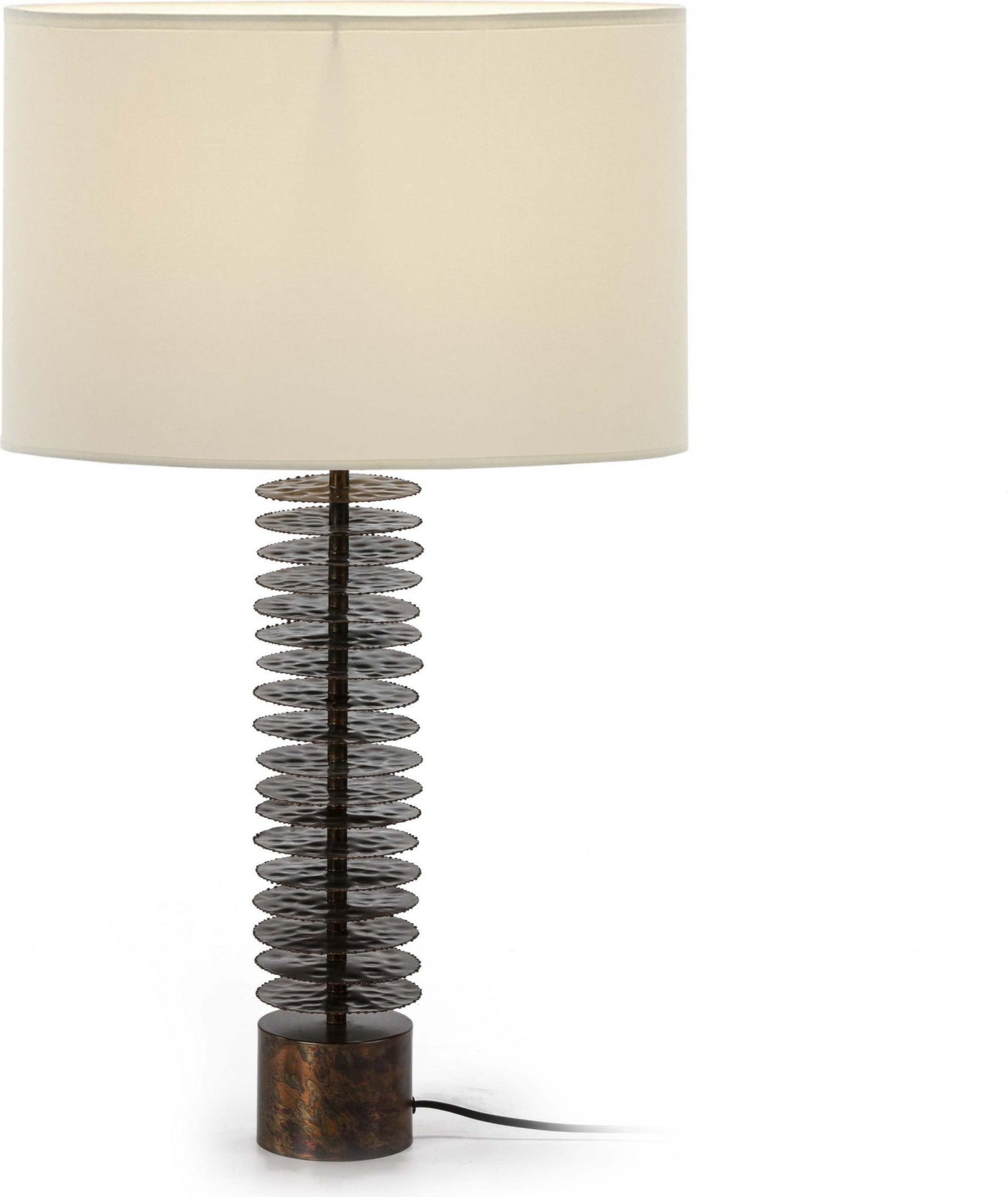 Lampe de table marron