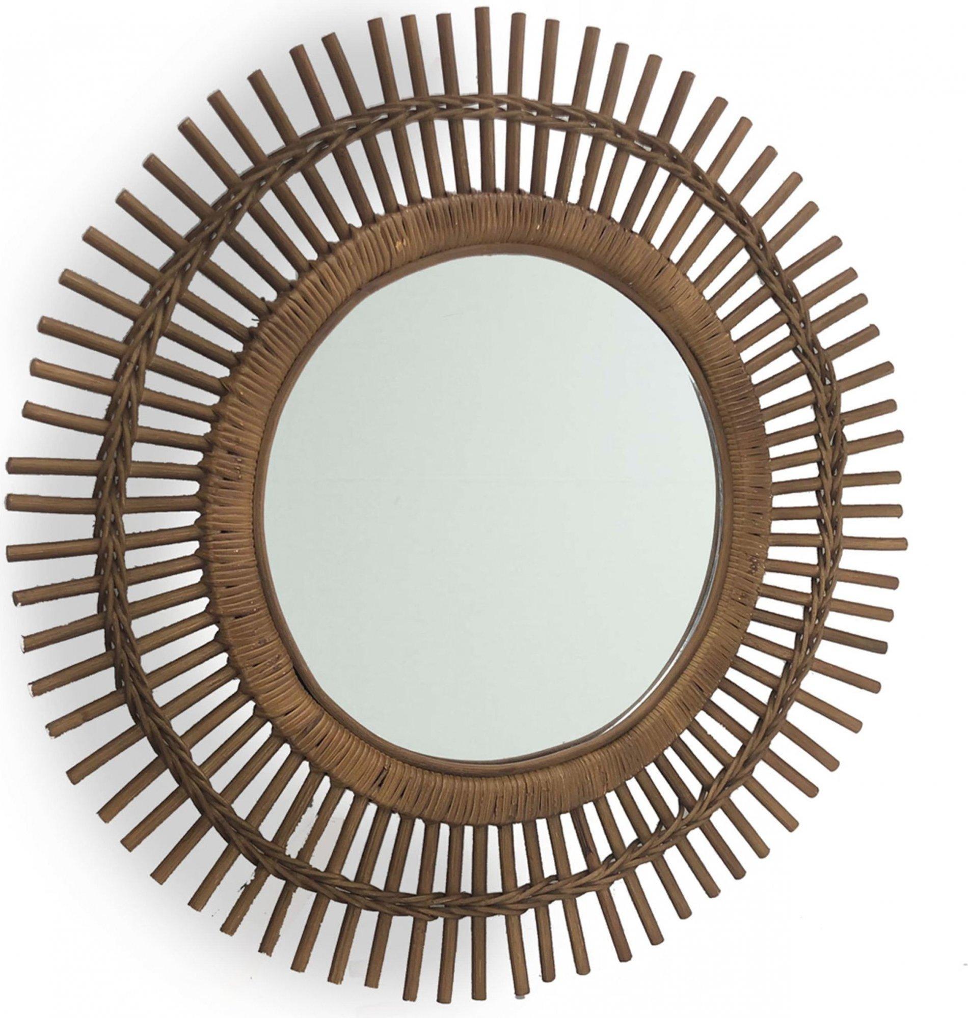 Miroir rond marron d70