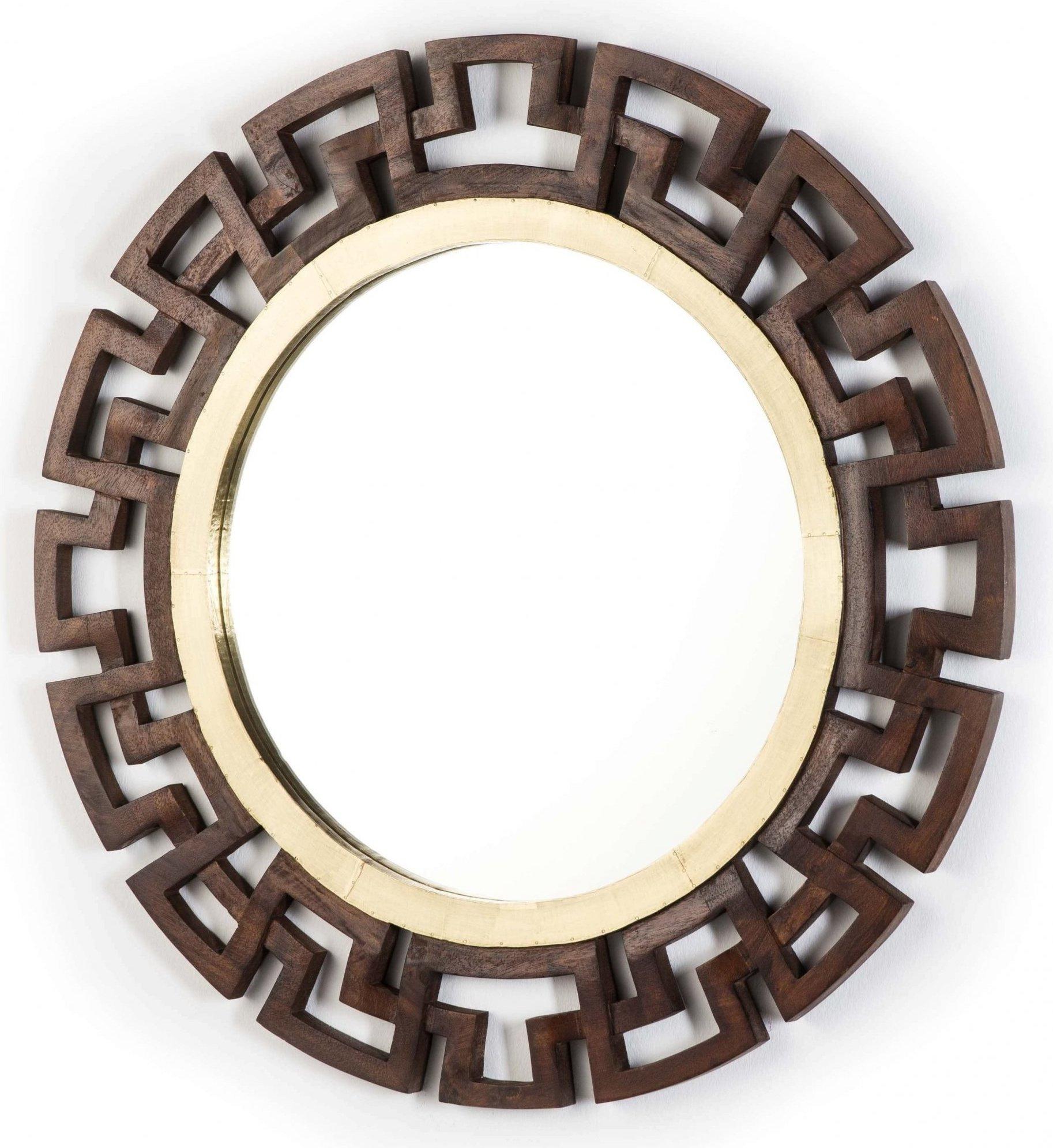 Miroir rond en bois d92
