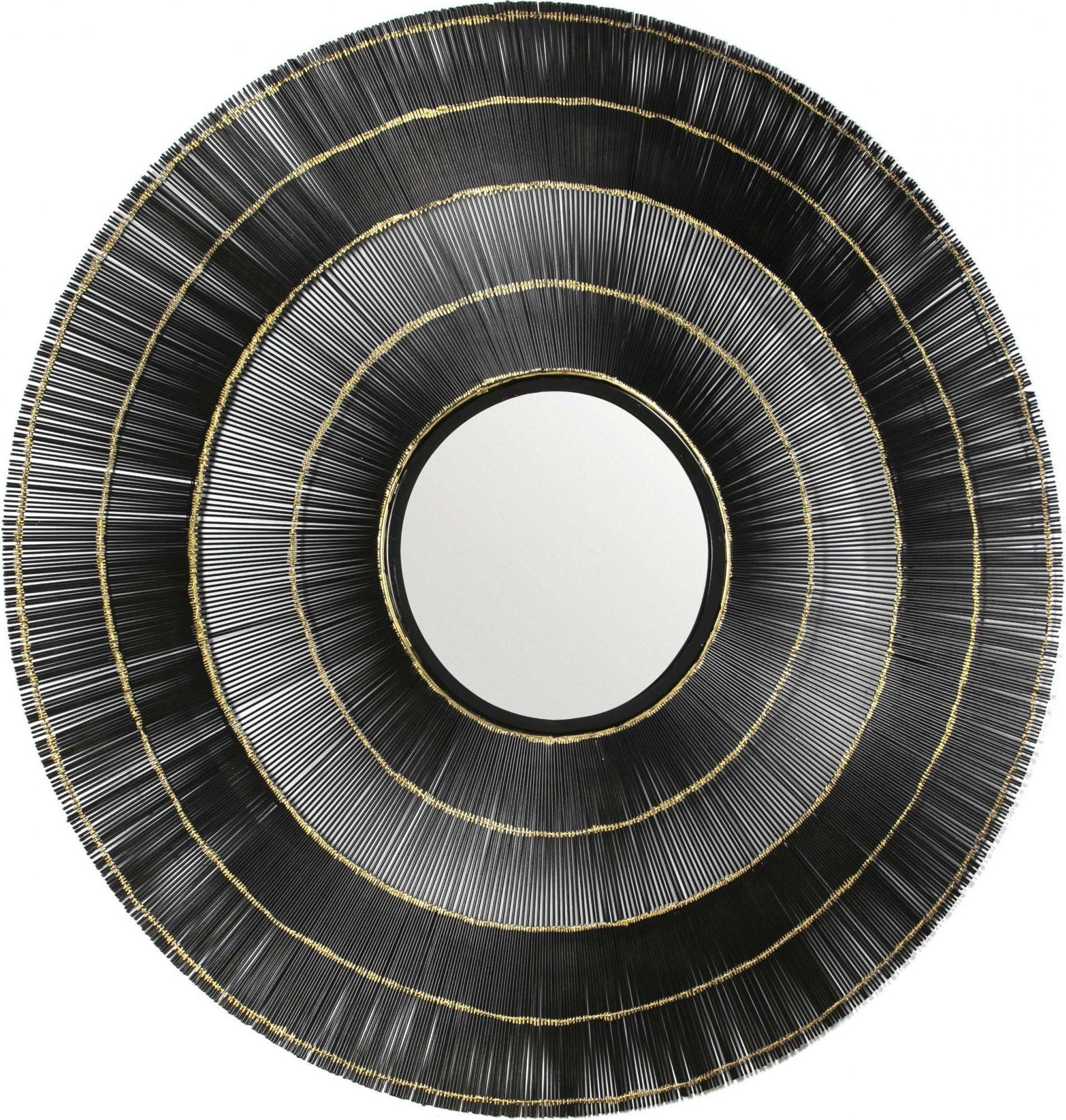 Miroir rond noir d114