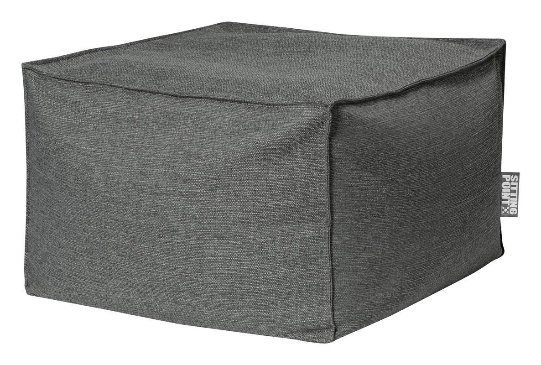 Pouf d'intérieur en tissu gris