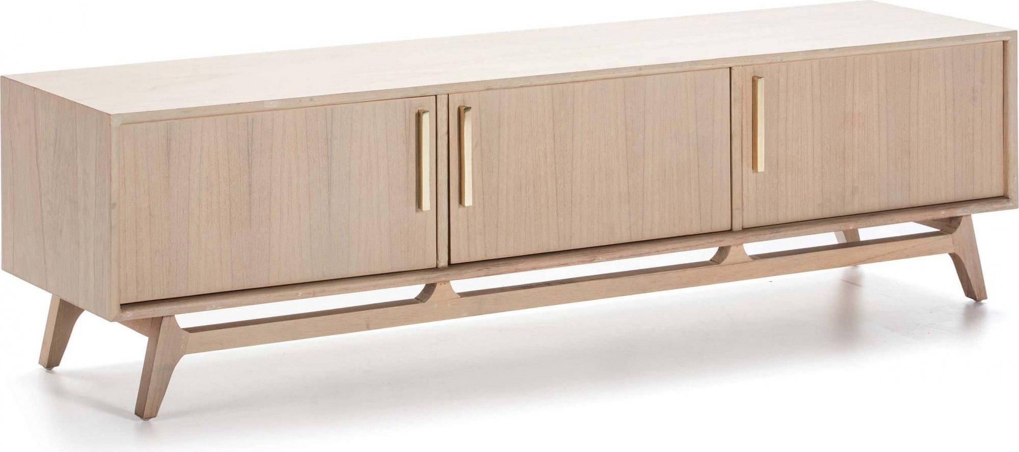 Meuble tv en bois clair 160x40x45