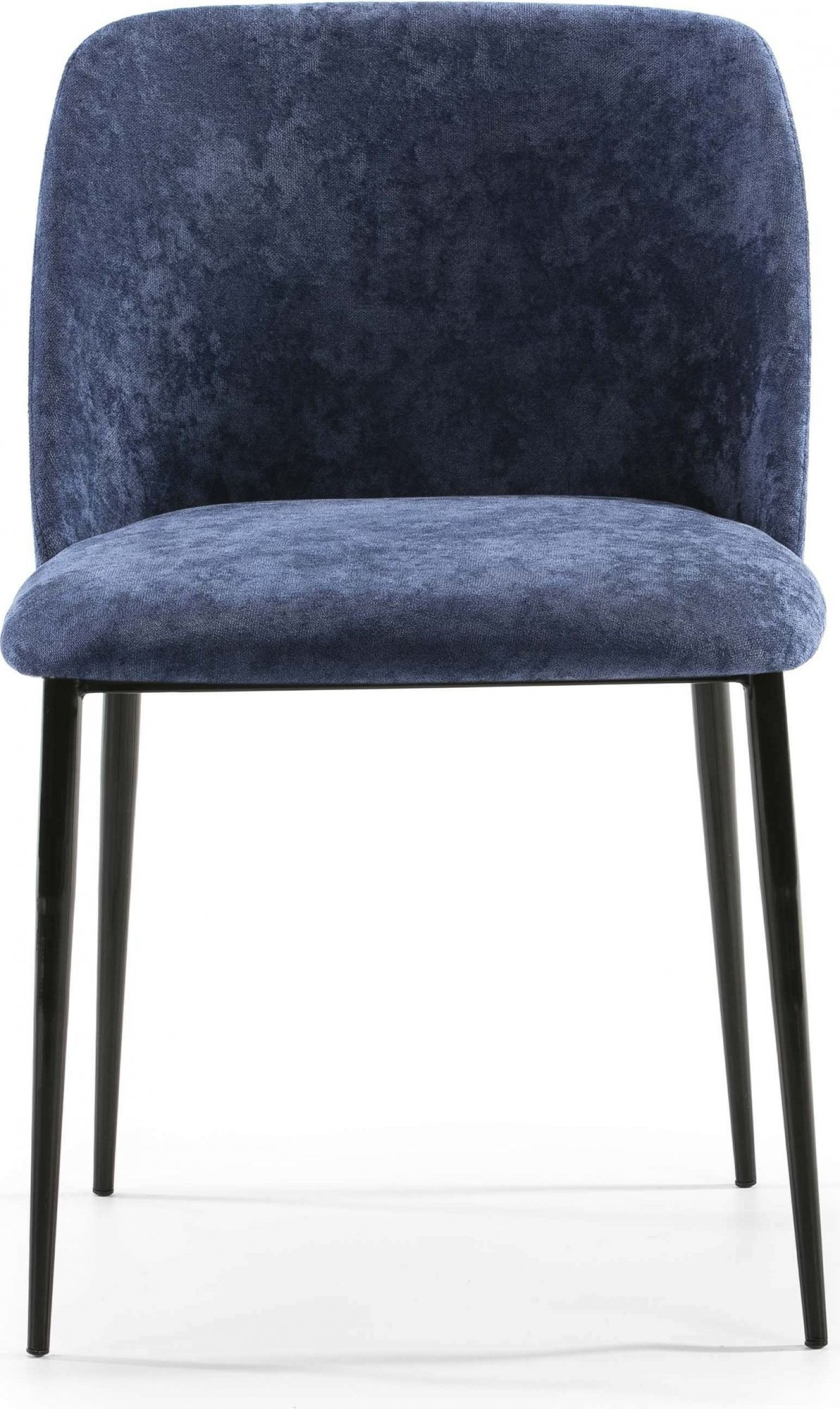 Chaise design rembourrée assise bleu pétrole