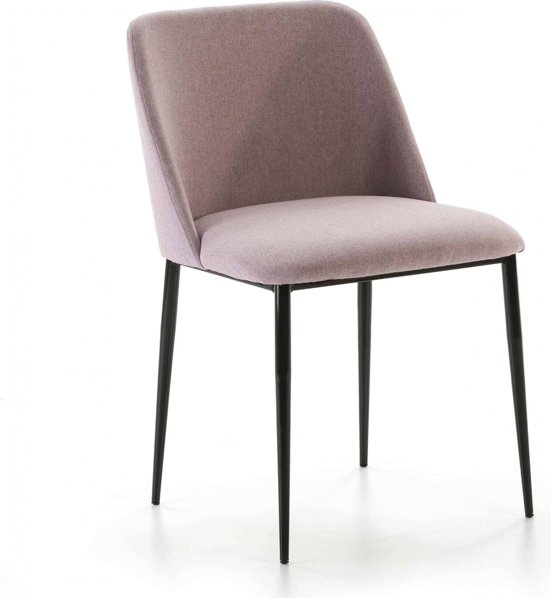 Chaise design rembourrée assise rose pale