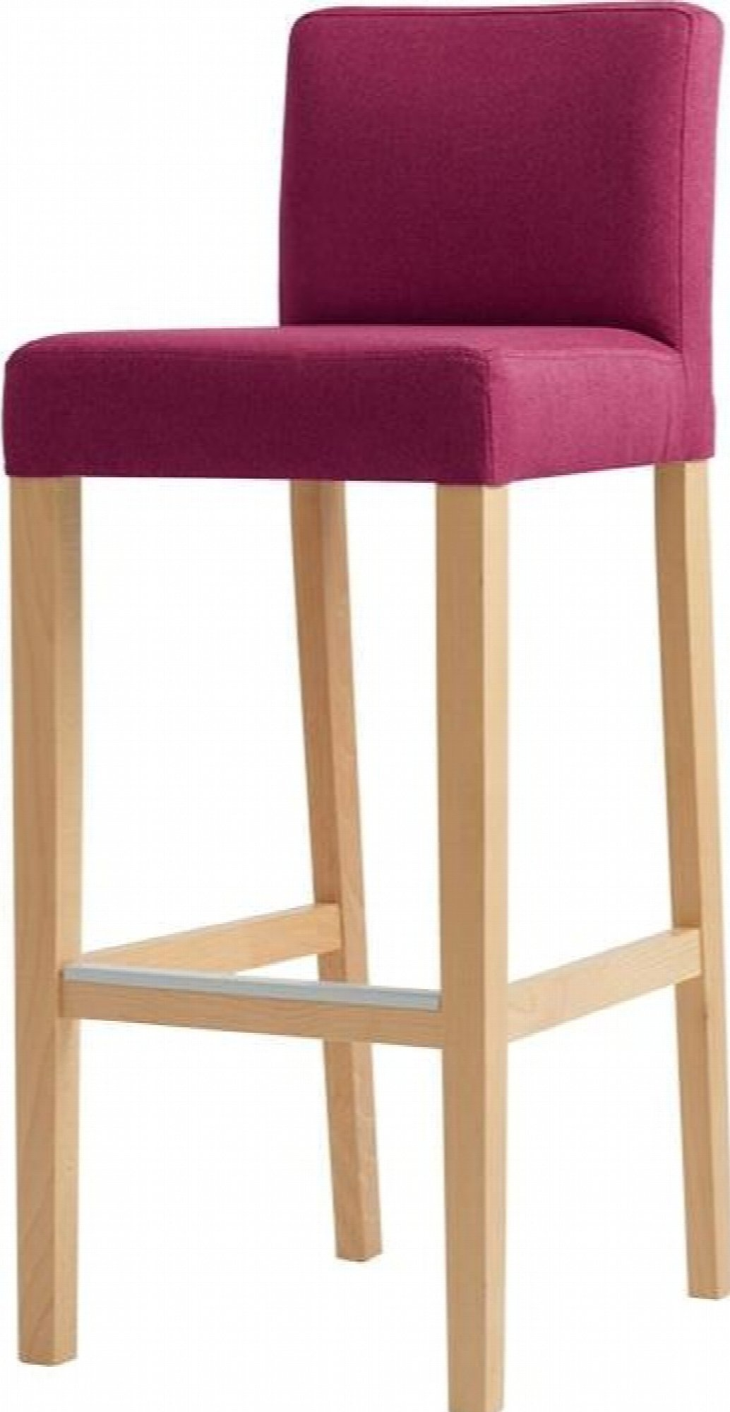 maison du monde Chaise de bar tissu rembourrée rose pieds bois massif clair