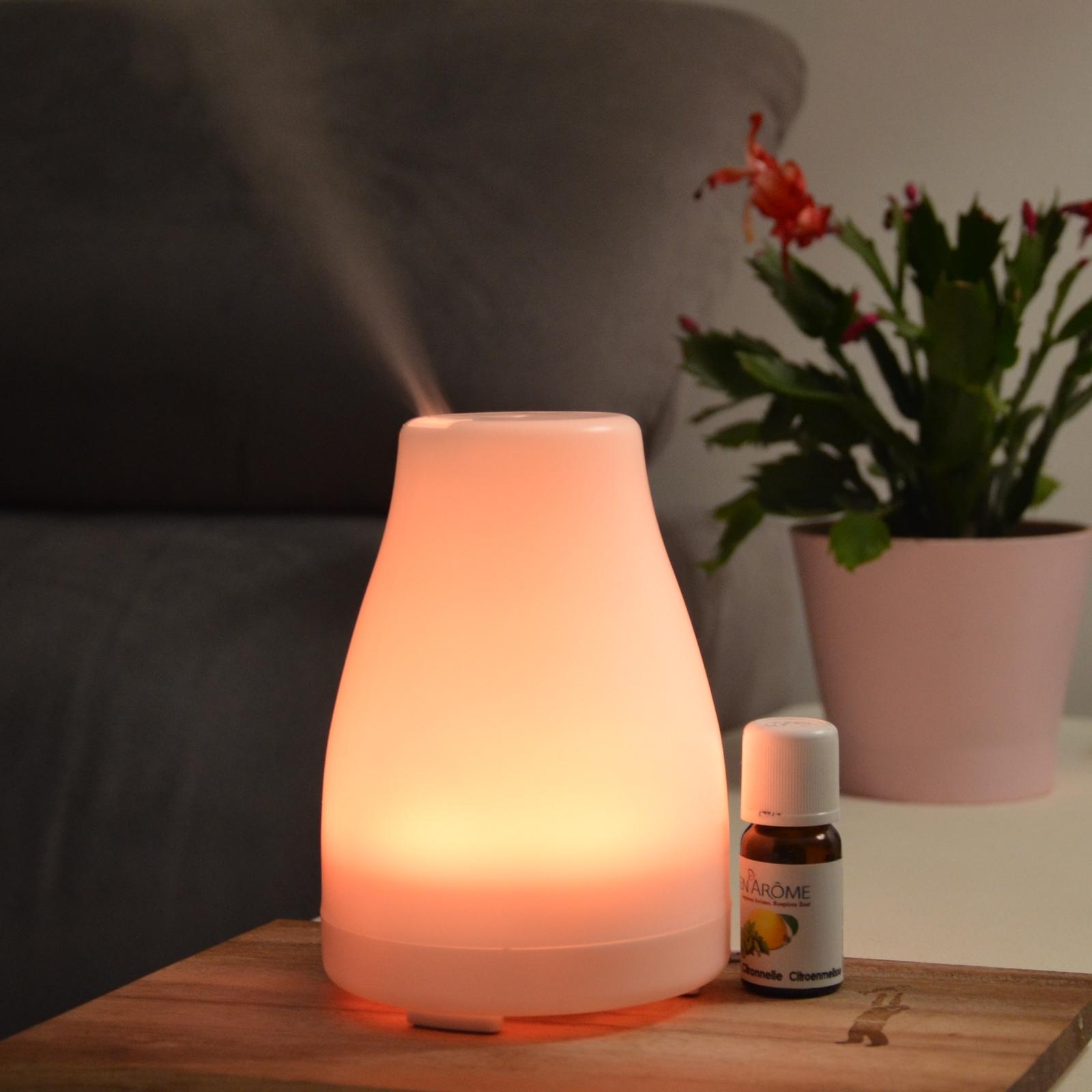 Diffuseur d'huiles essentielles ultrasonique avec éclairage Led Nala