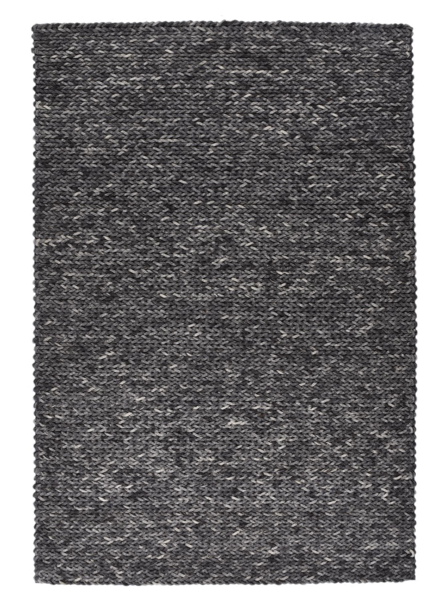 ARLBERG - Tapis feutré en laine naturelle gris 140x200