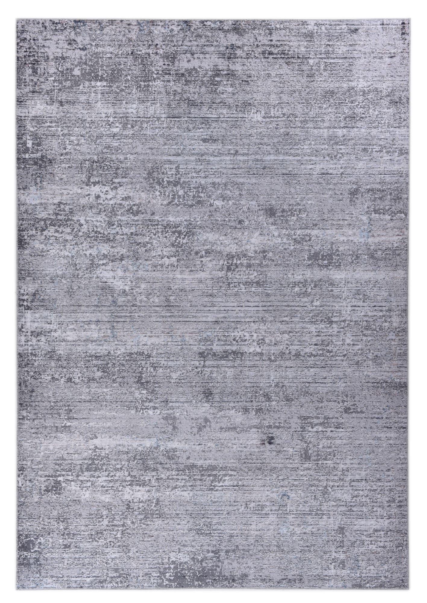 Tapis imprimé en motif moderne gris 140x200