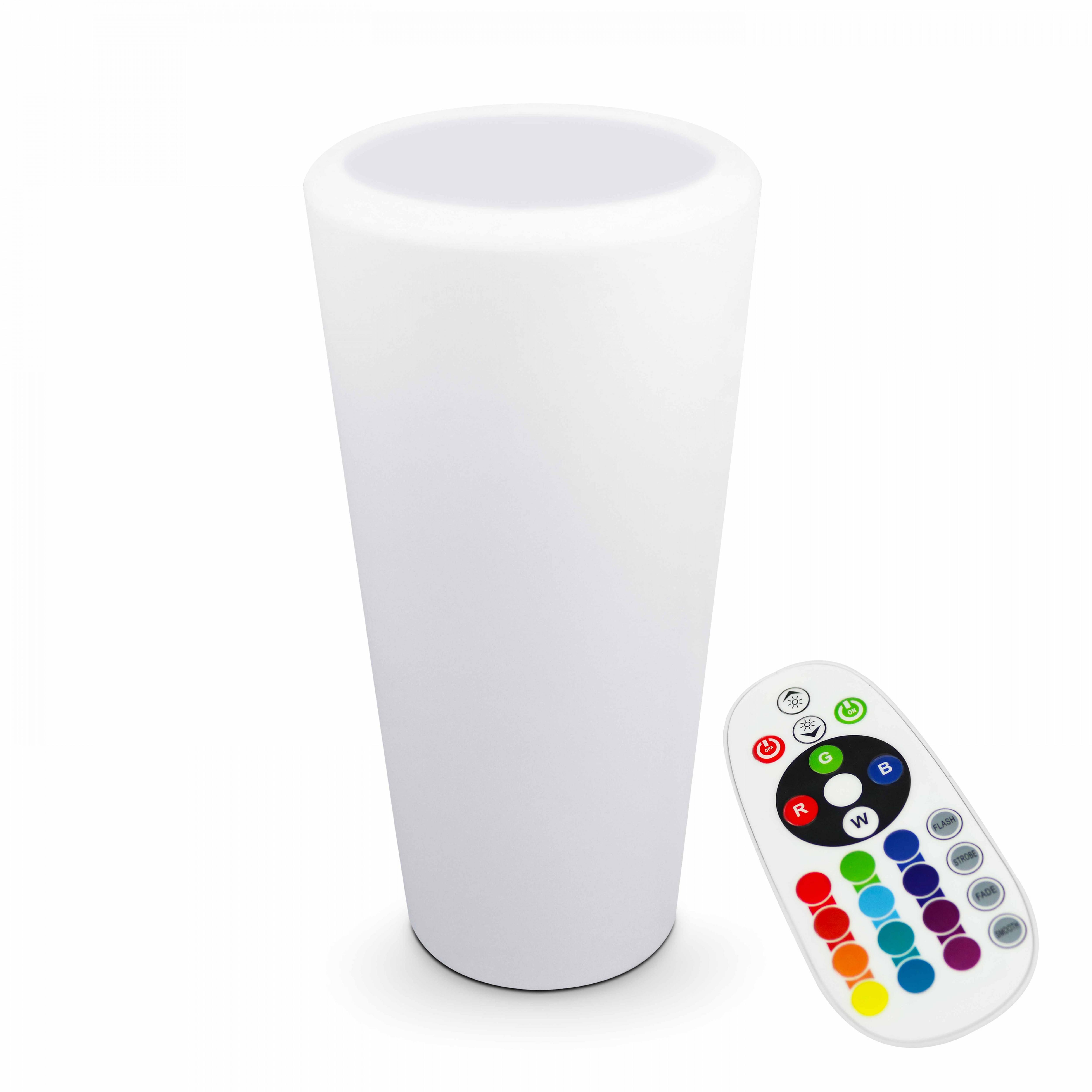 Pot de fleurs LED rechargeable multicolore