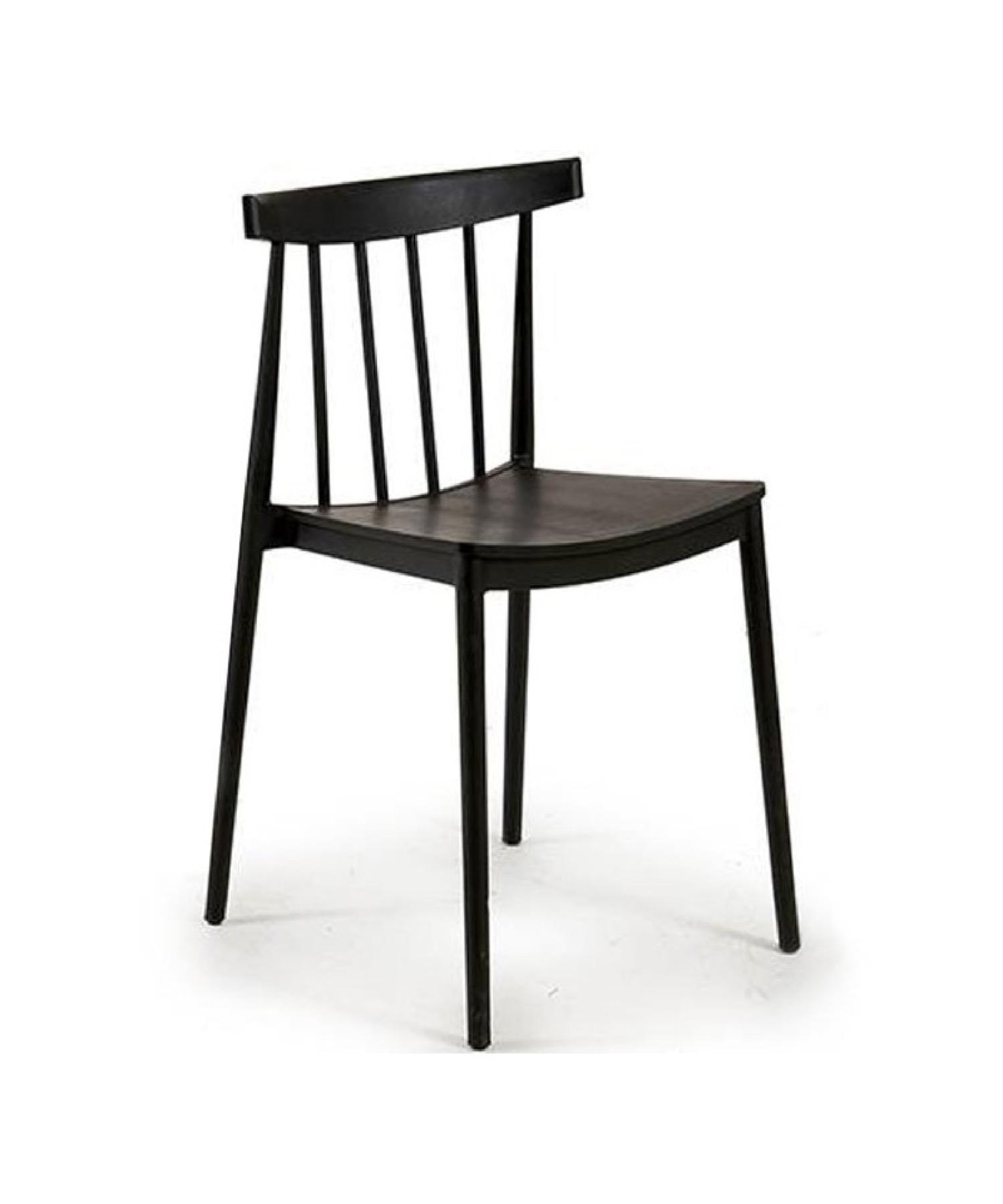 Chaise de jardin design en polypropylène noir