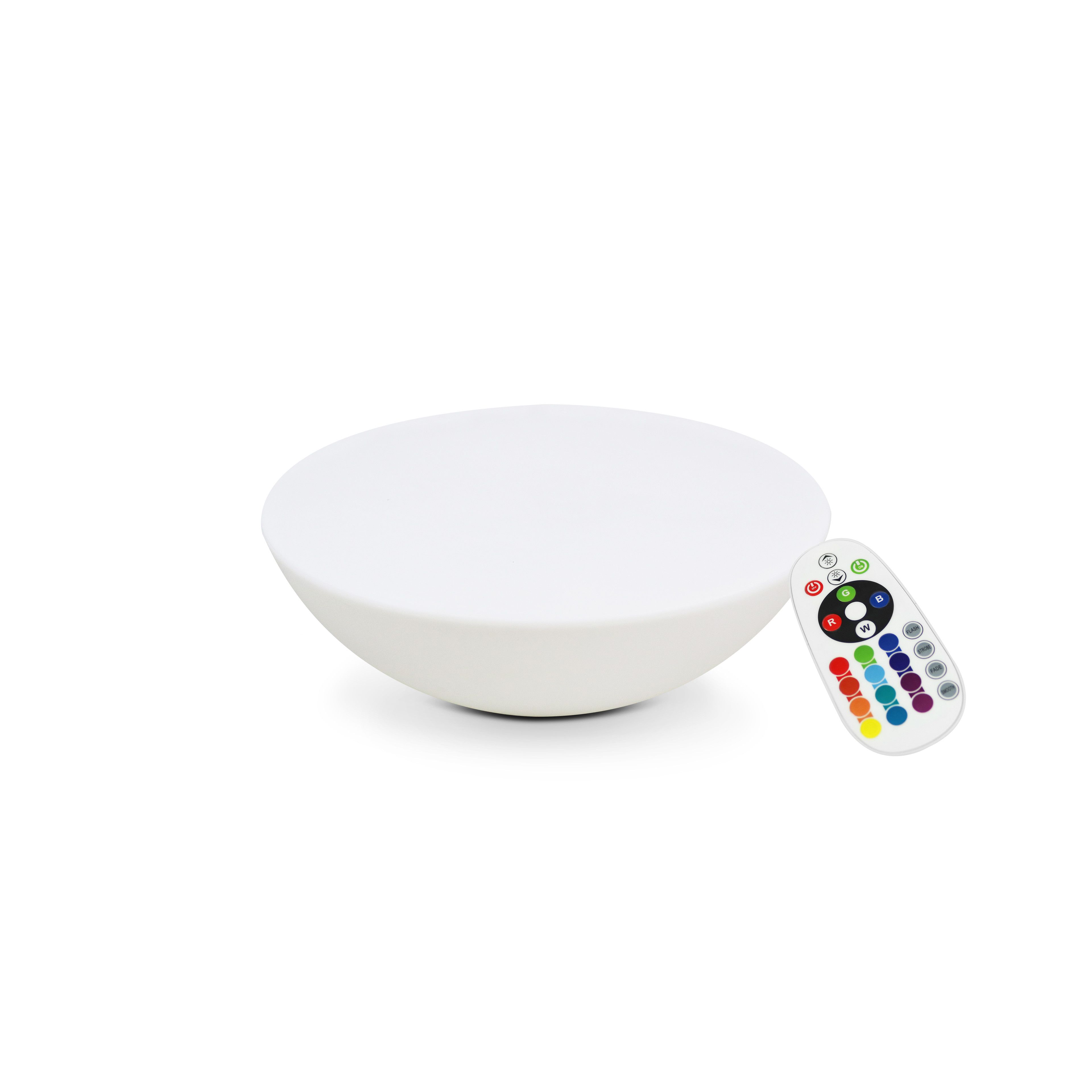 Table basse LED rechargeable multicolore
