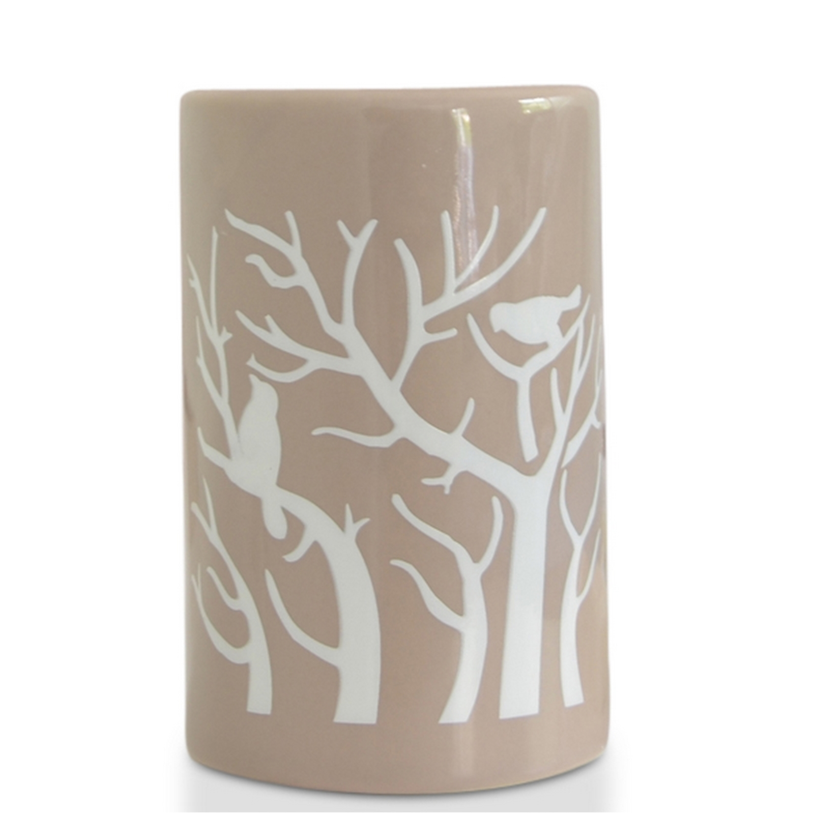Brûle parfum Treebee en céramique beige