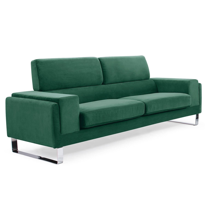 Canapé 3 places  velours côtelé vert