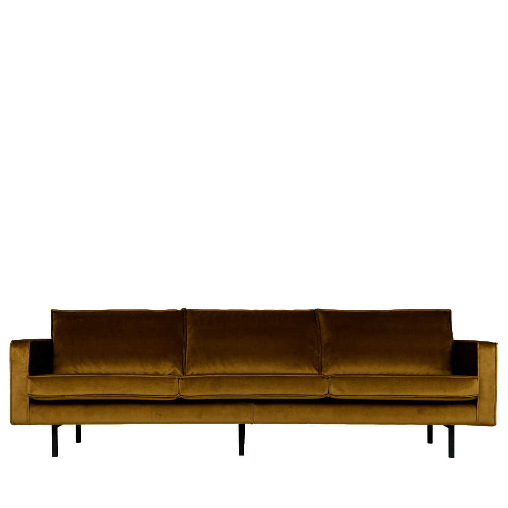 Grand canapé 4 places vintage velours bronze