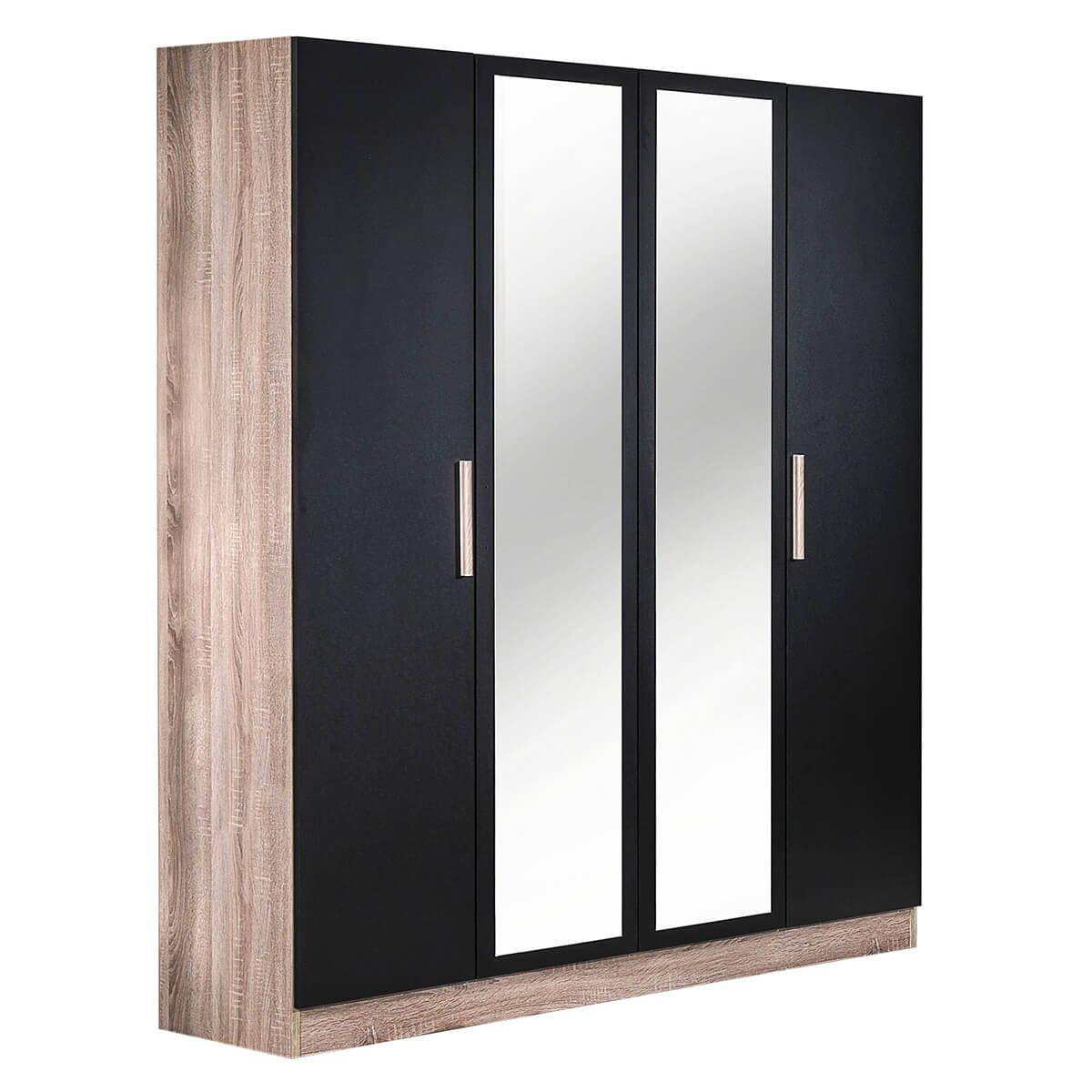 Armoire 4 Portes avec Miroir Central (photo)
