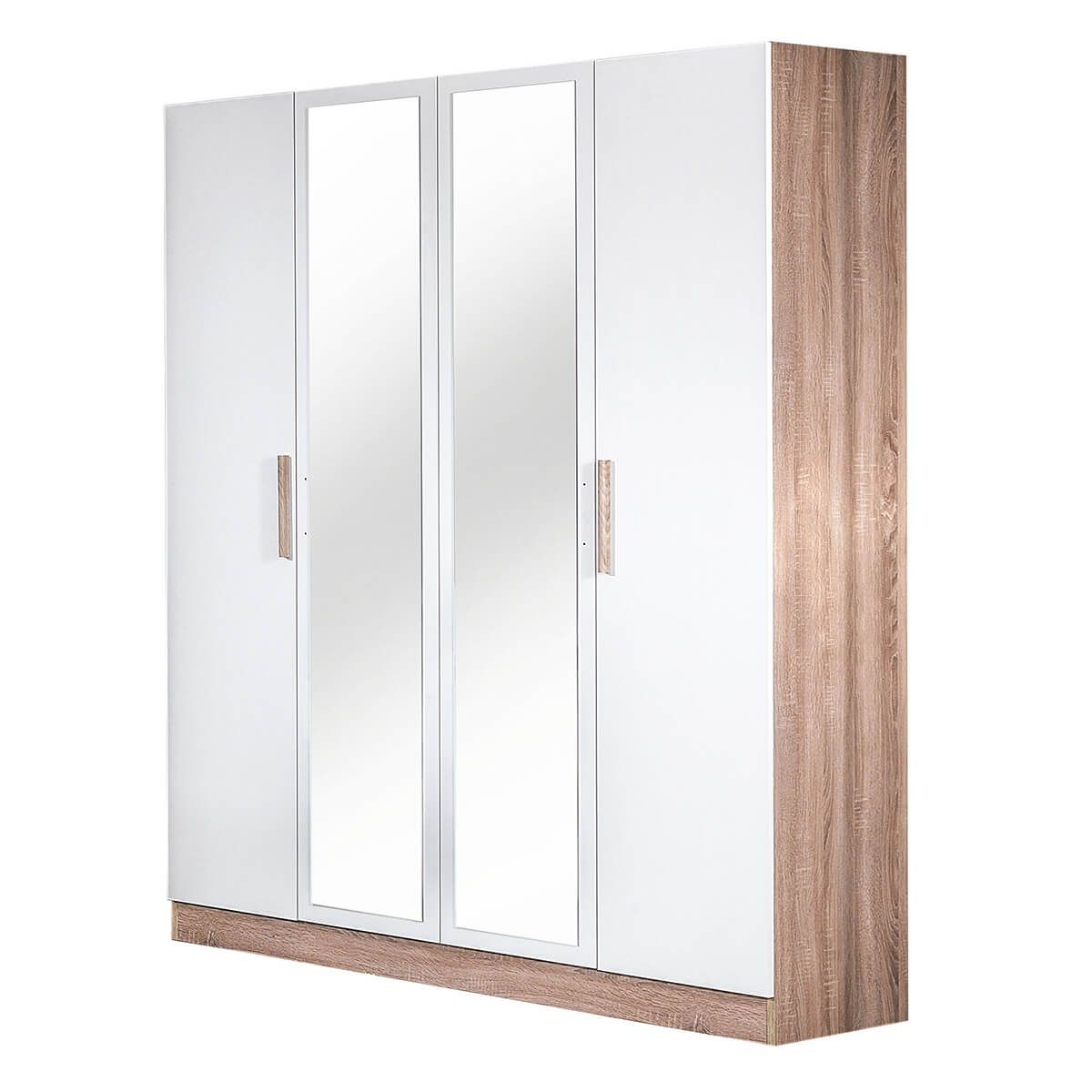 Armoire 4 Portes avec Miroir Central