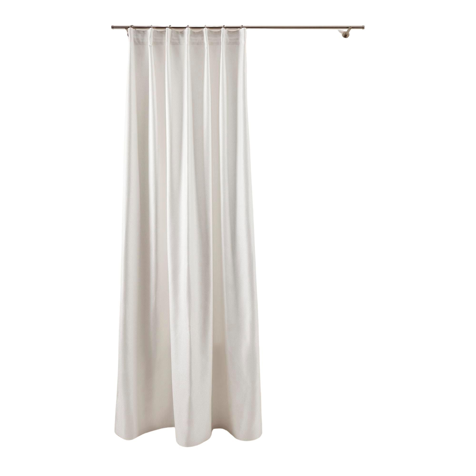 Rideau à ruban fronceur 350x280 cm Blanc