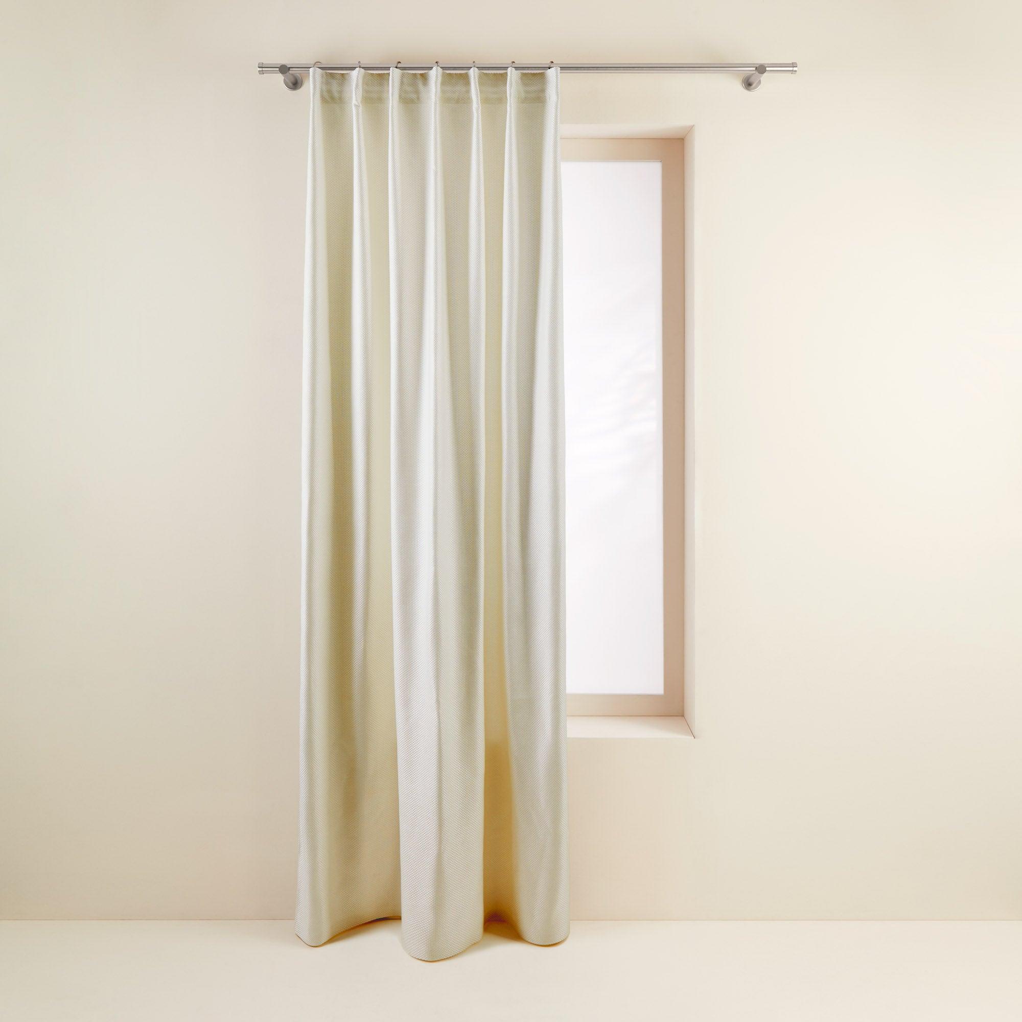 Rideau à ruban fronceur 145x280 cm Blanc