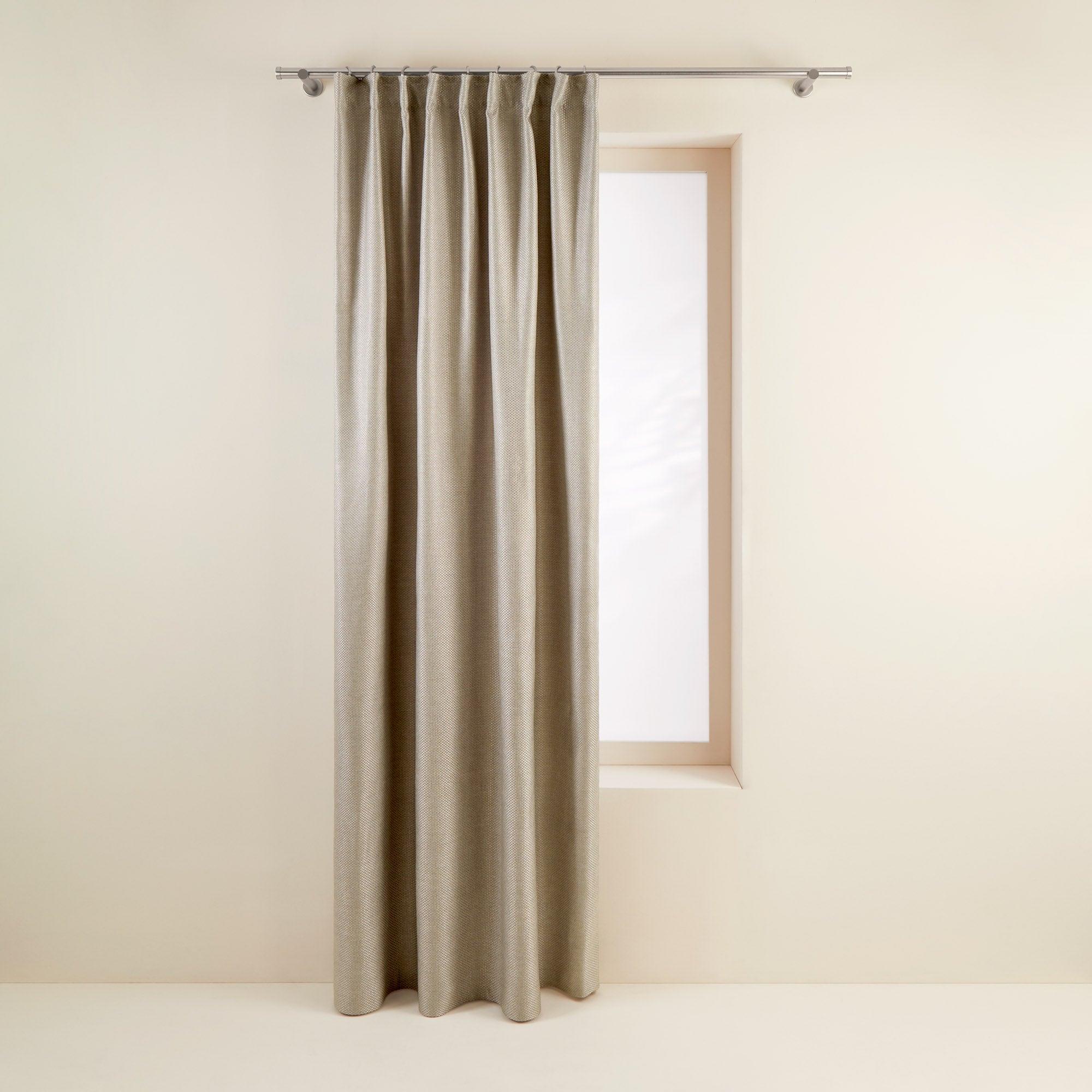 Rideau à ruban fronceur 145x280 cm Beige clair