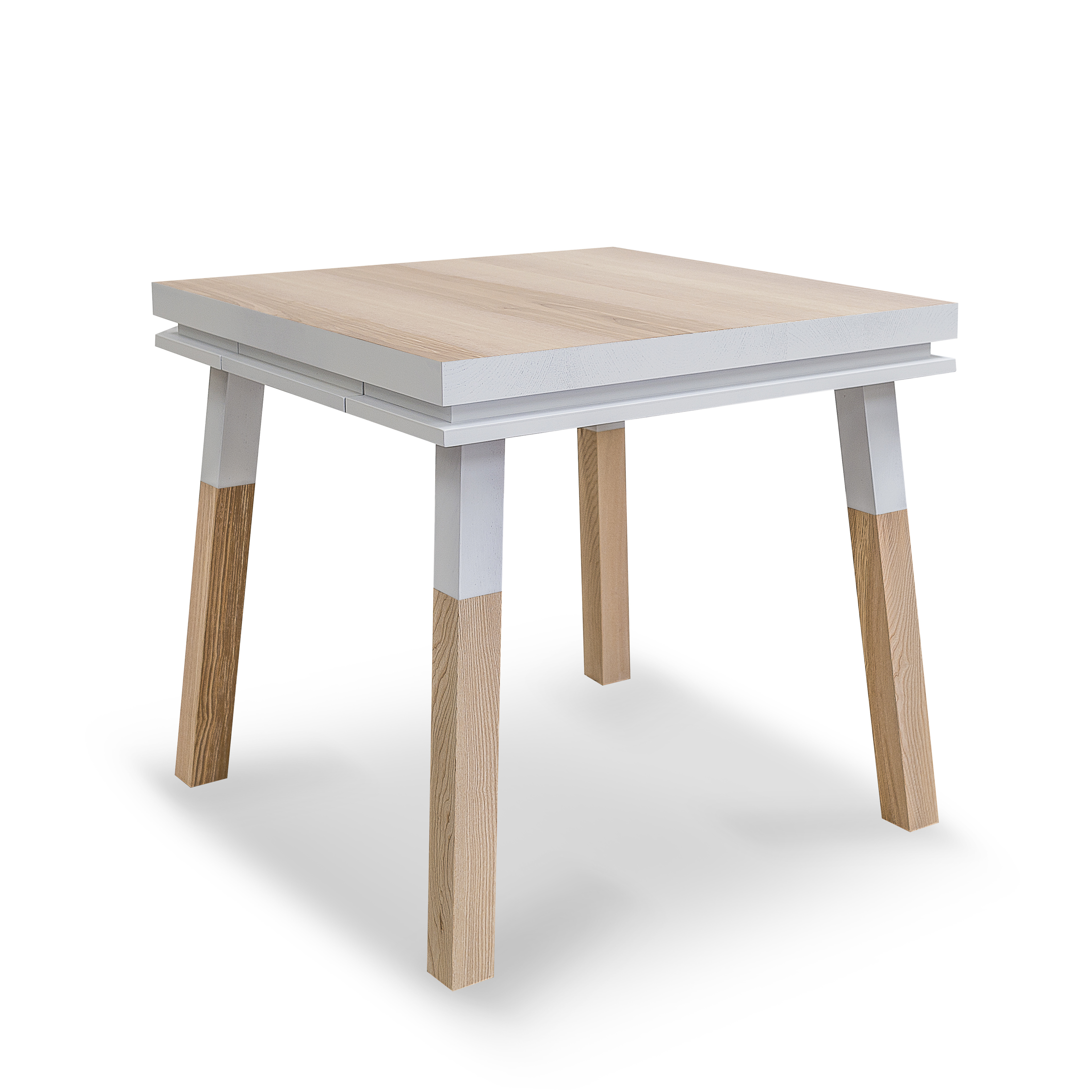 Bureau carré en bois massif avec tiroir blanc balisson