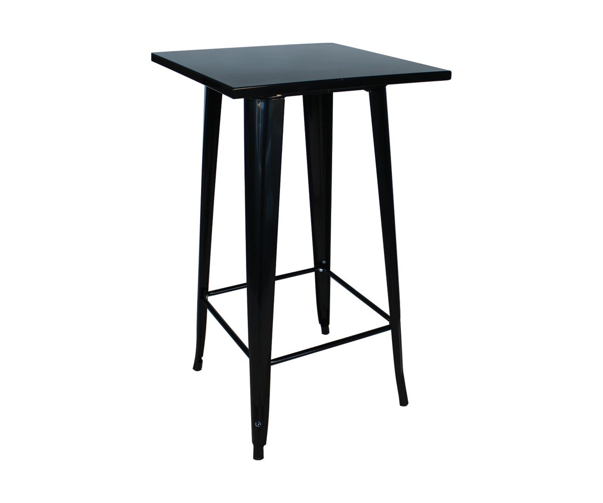 Table haute métal style industriel