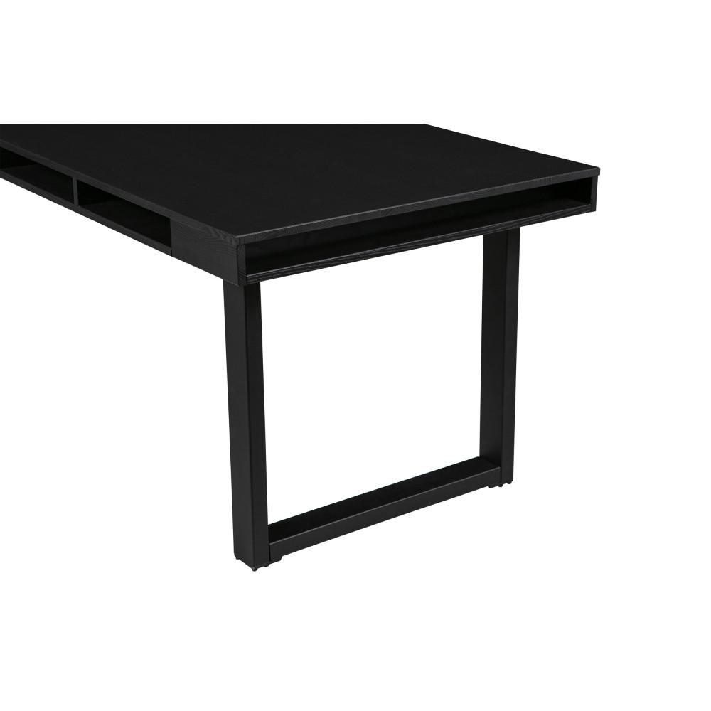 Table à manger en bois et métal nois en U 220x90cm