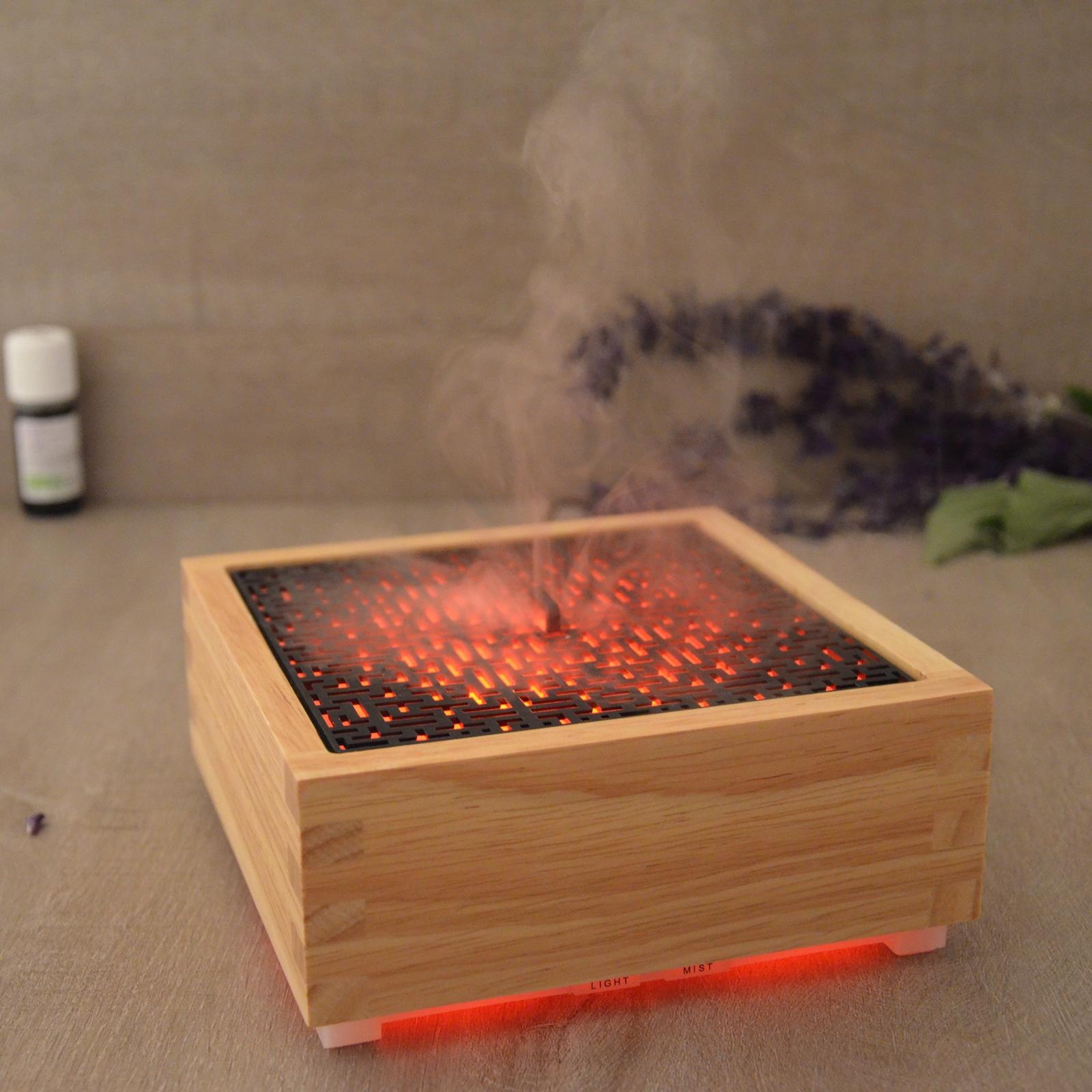 Diffuseur d'huiles essentielles ultrasonique en bambou Kaori