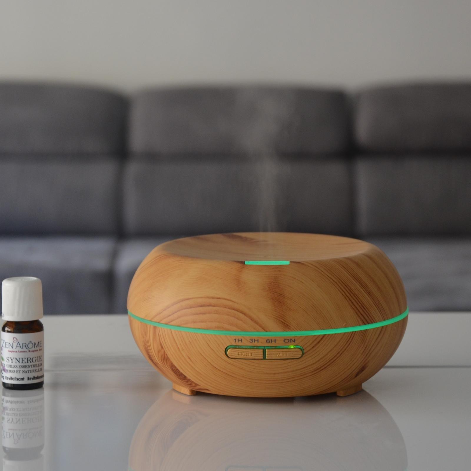 Diffuseur d'huiles essentielles ultrasonique éclairage led Woody