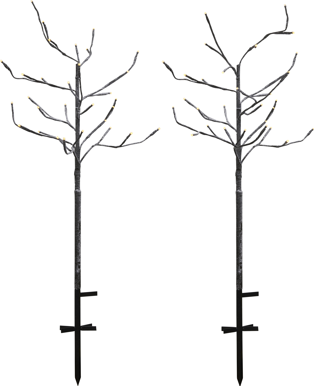 Lot de 2 arbres lumineux 2x30 LED télécommandables