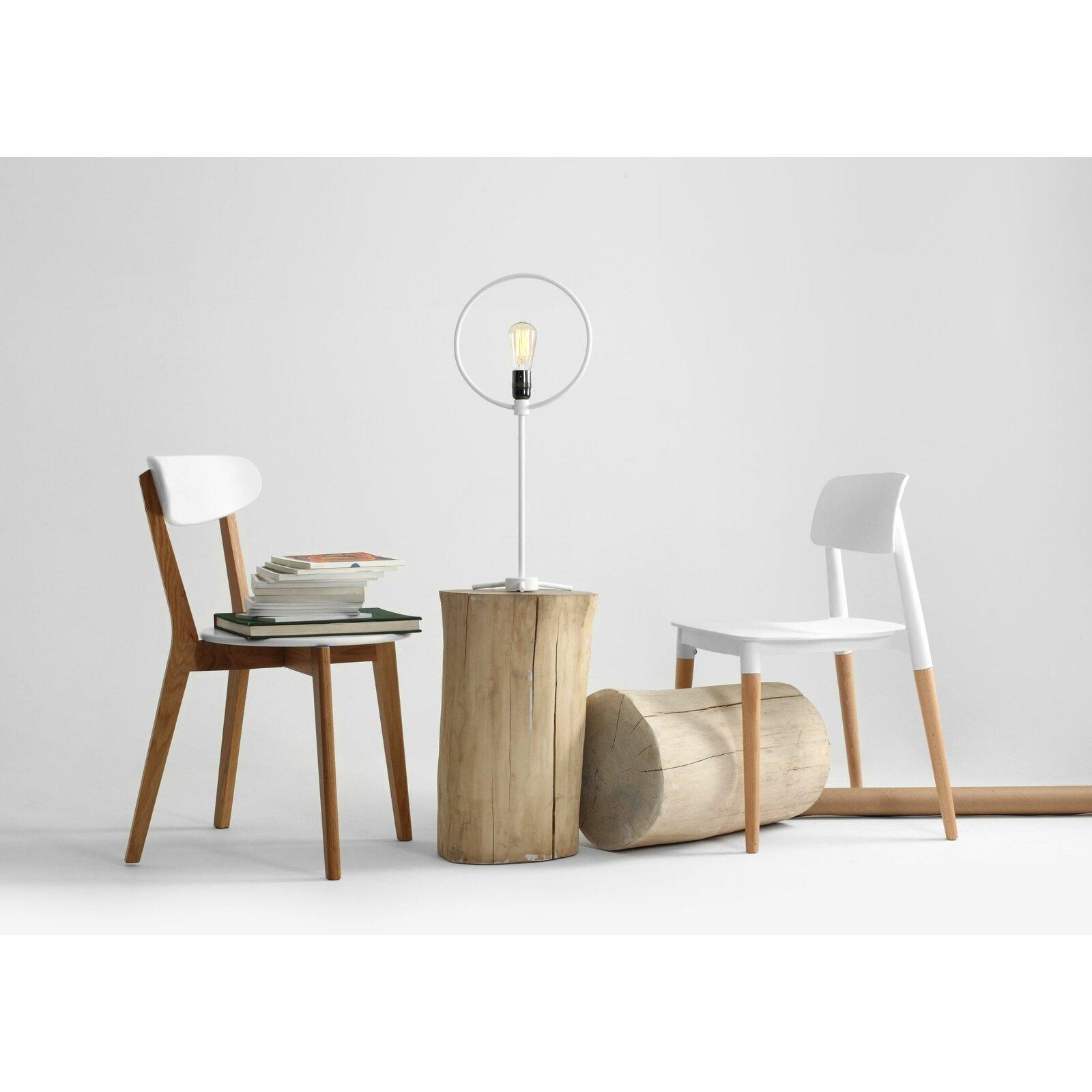 Lampe de table en acier blanc