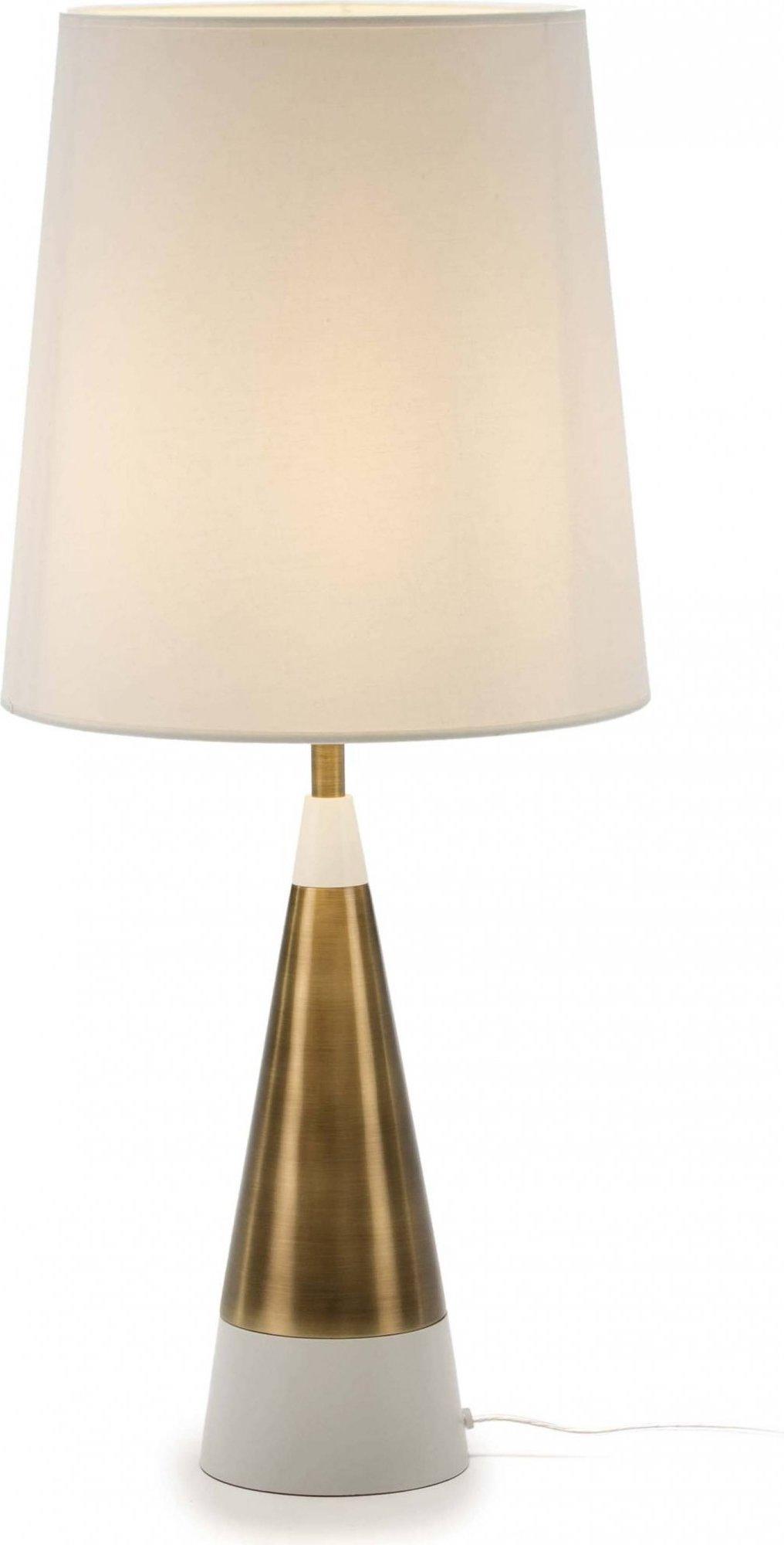 Lampe de table design couleur dorée
