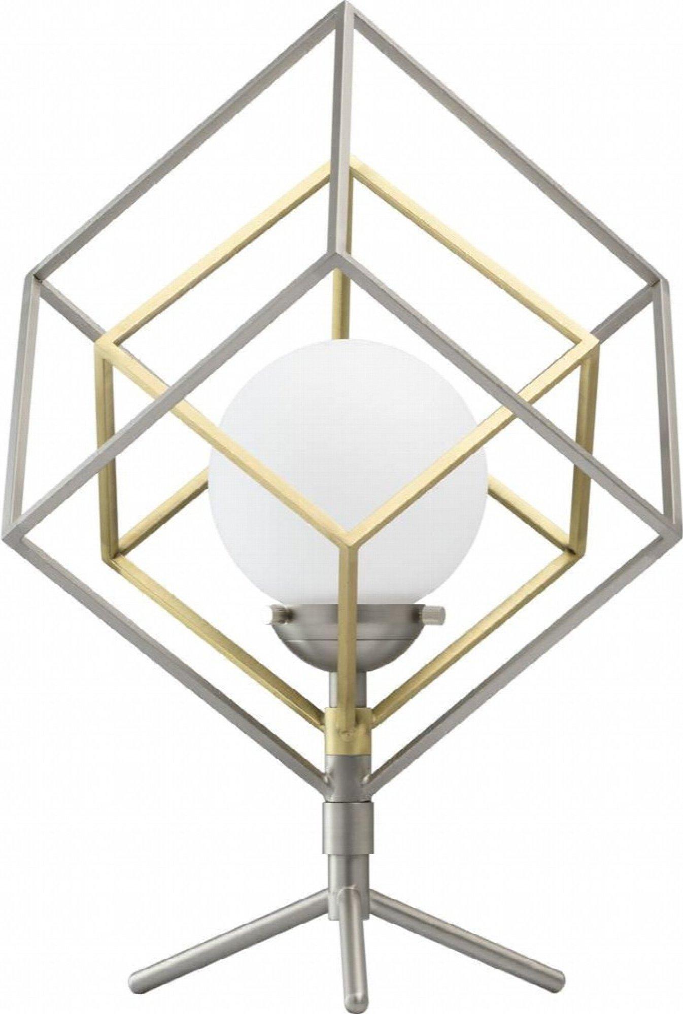 Lampe design couleur argentée