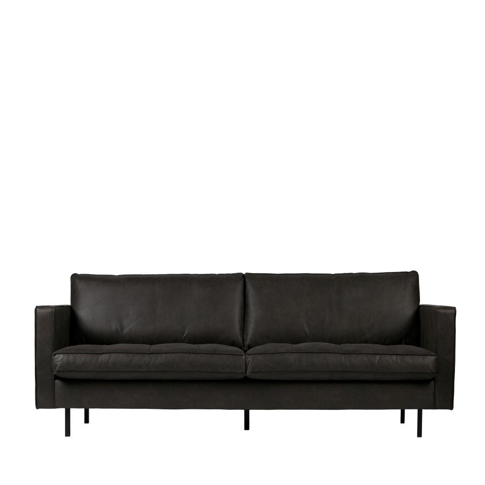 Canapé droit 3 places Rouge Cuir Vintage Confort