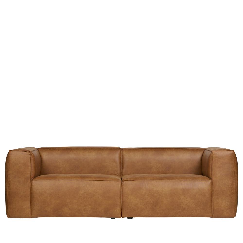 Canapé droit 4 places Cuir Contemporain Confort