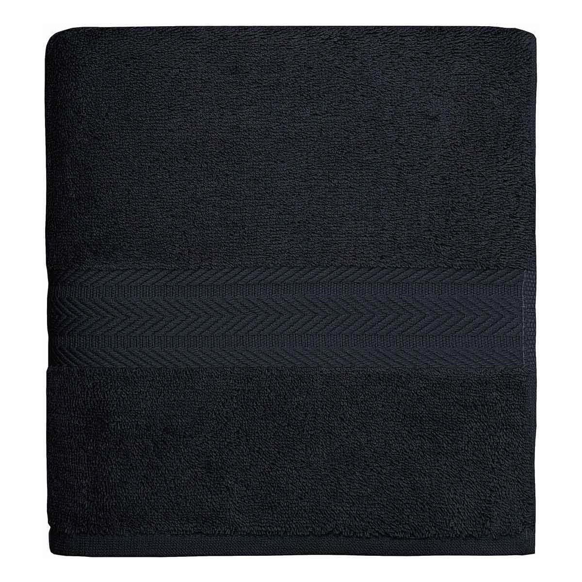 Drap de bain 550gr/m²  Noir 70x140 cm